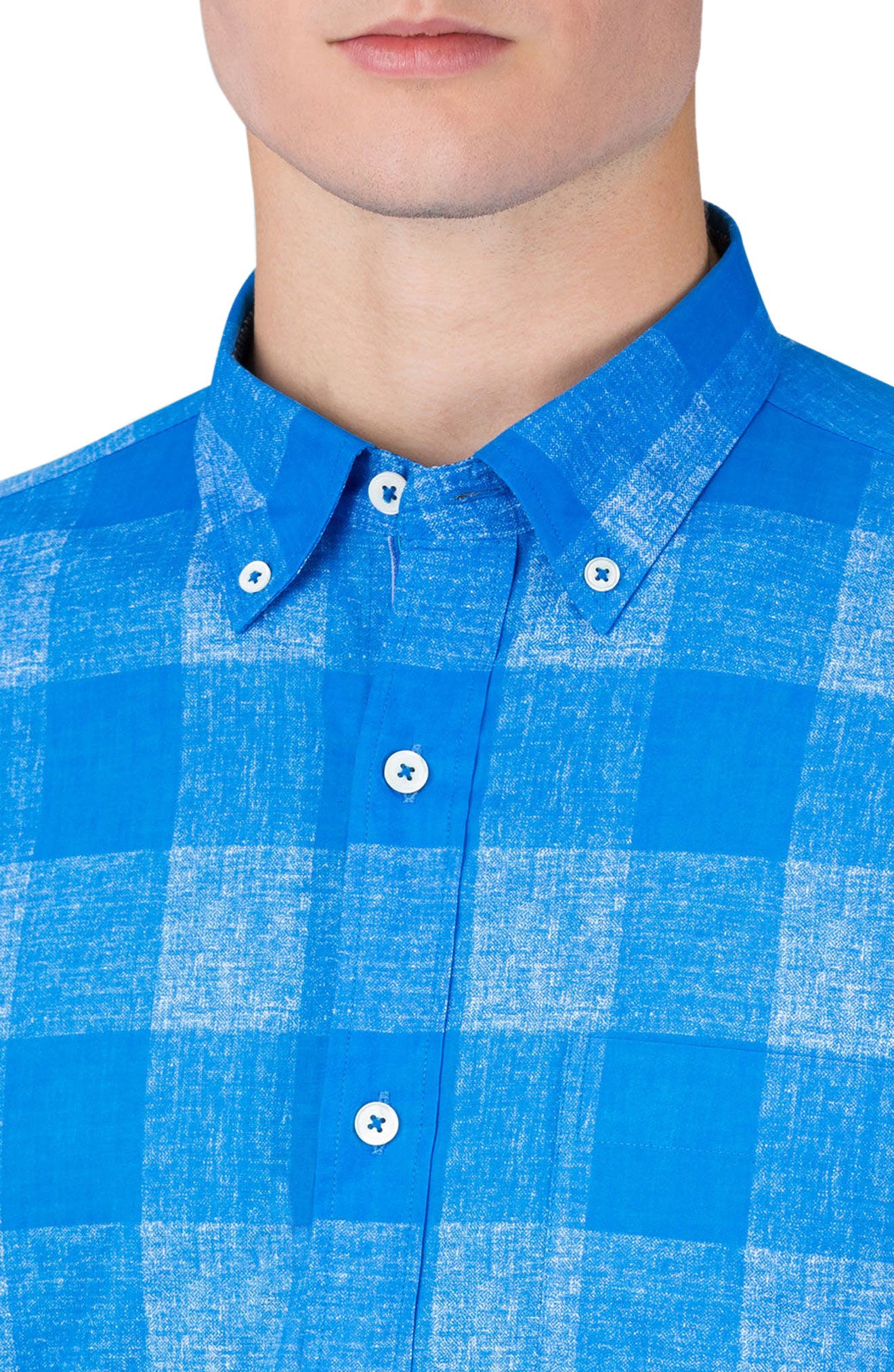 Classic Fit Check Sport Shirt,                             Alternate thumbnail 3, color,