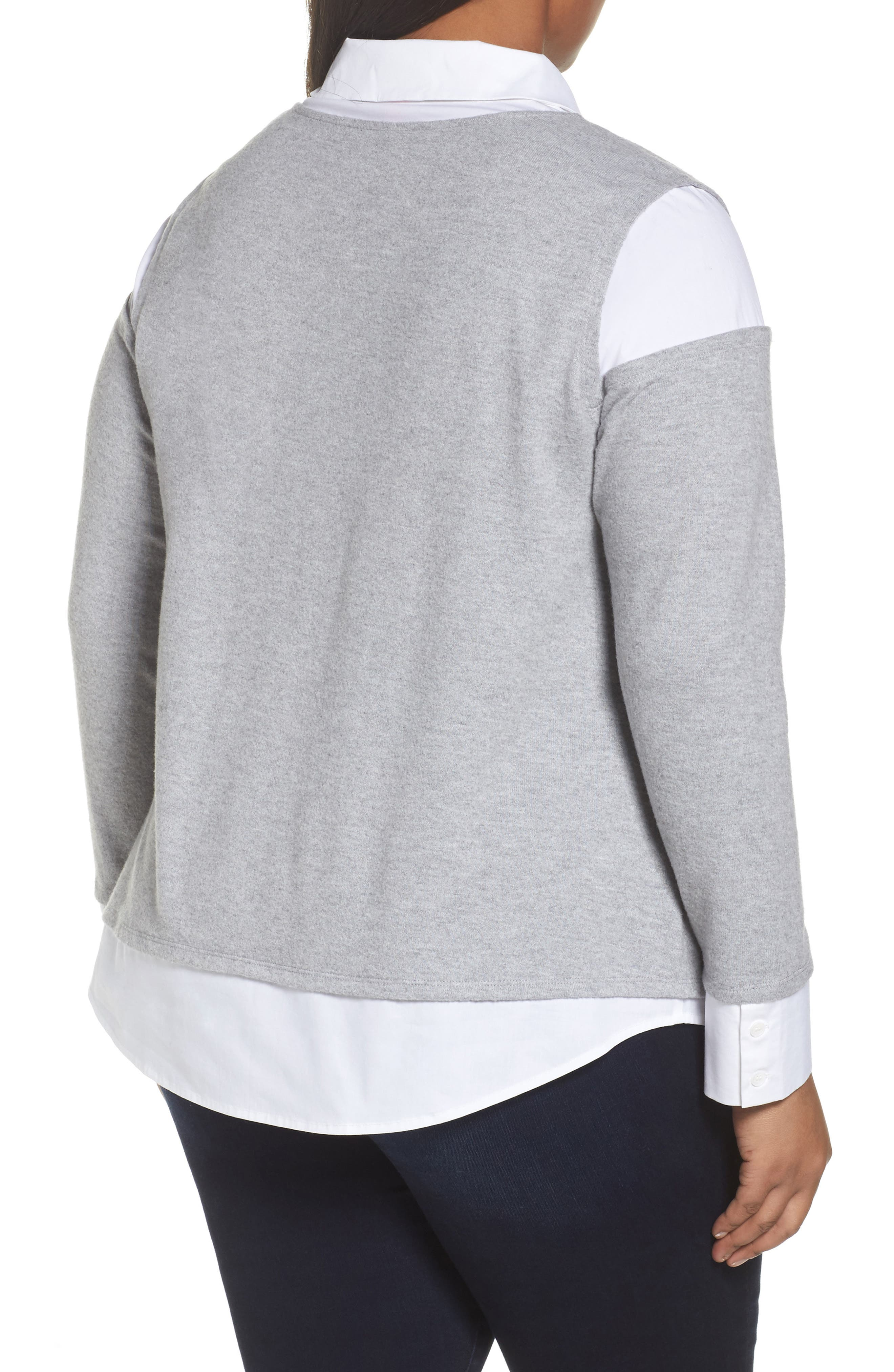 Mix Media Brushed Jersey Top,                             Alternate thumbnail 7, color,