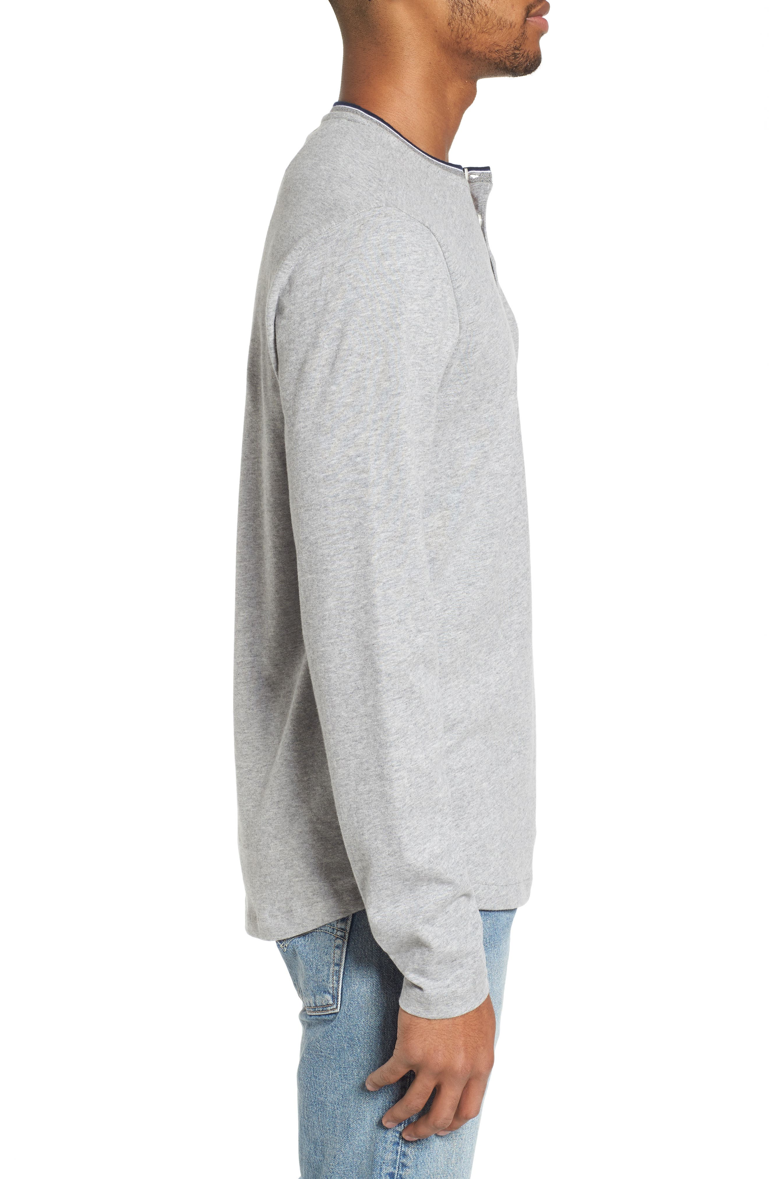 Sueded Tipped Henley,                             Alternate thumbnail 3, color,                             055