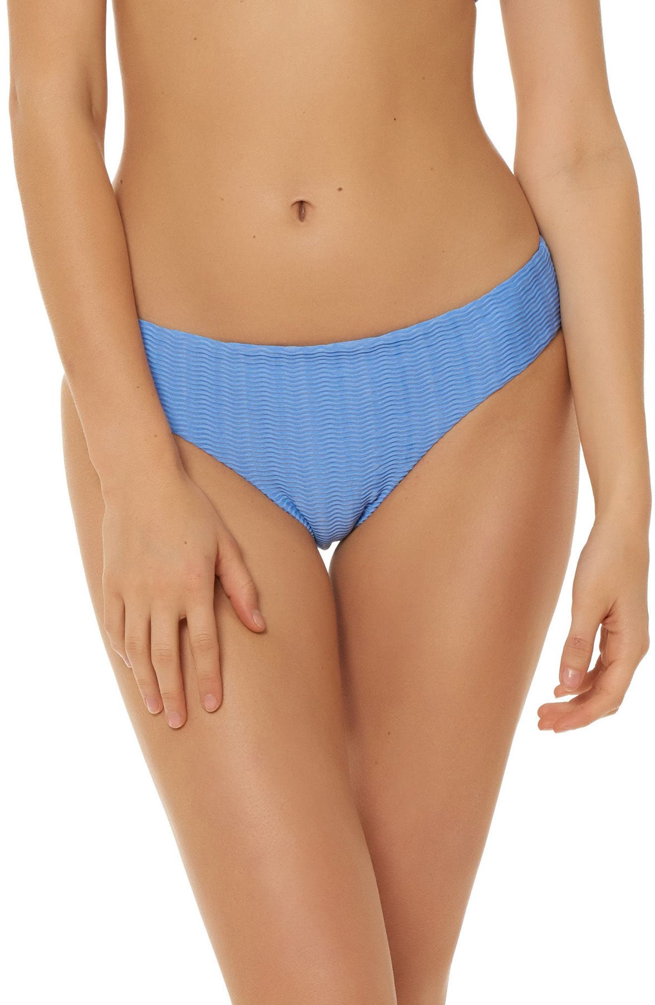 Textured Hipster Bikini Bottoms,                         Main,                         color, PERIWINKLE