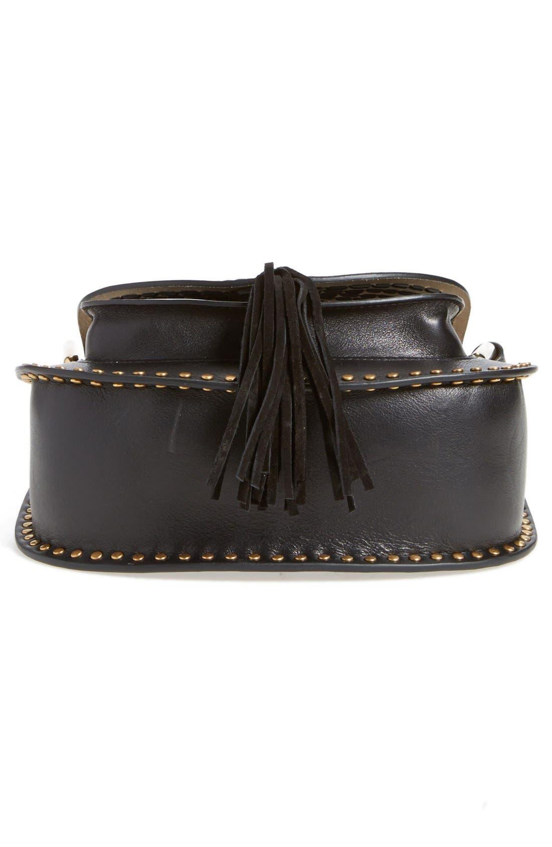 CHLOÉ,                             'Small Hudson' Studded Calfskin Leather Crossbody Bag,                             Alternate thumbnail 2, color,                             001