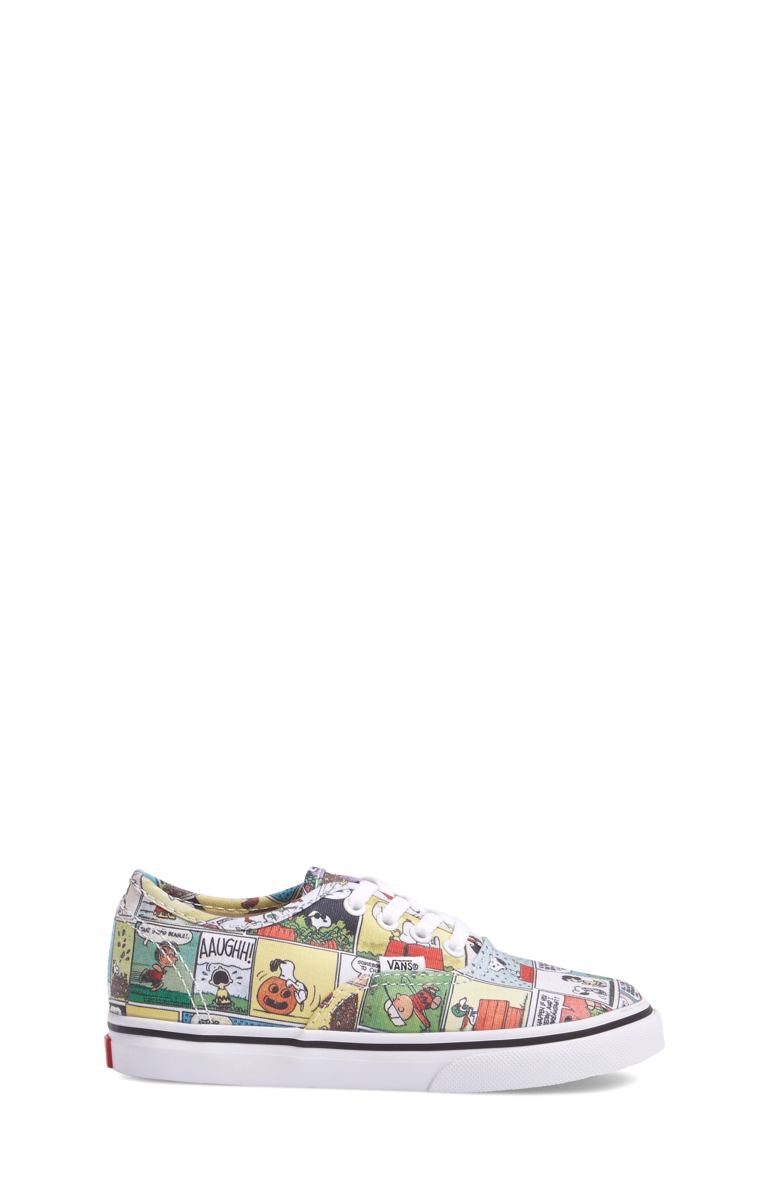 x Peanuts Authentic Low Top Sneaker,                             Alternate thumbnail 3, color,                             001