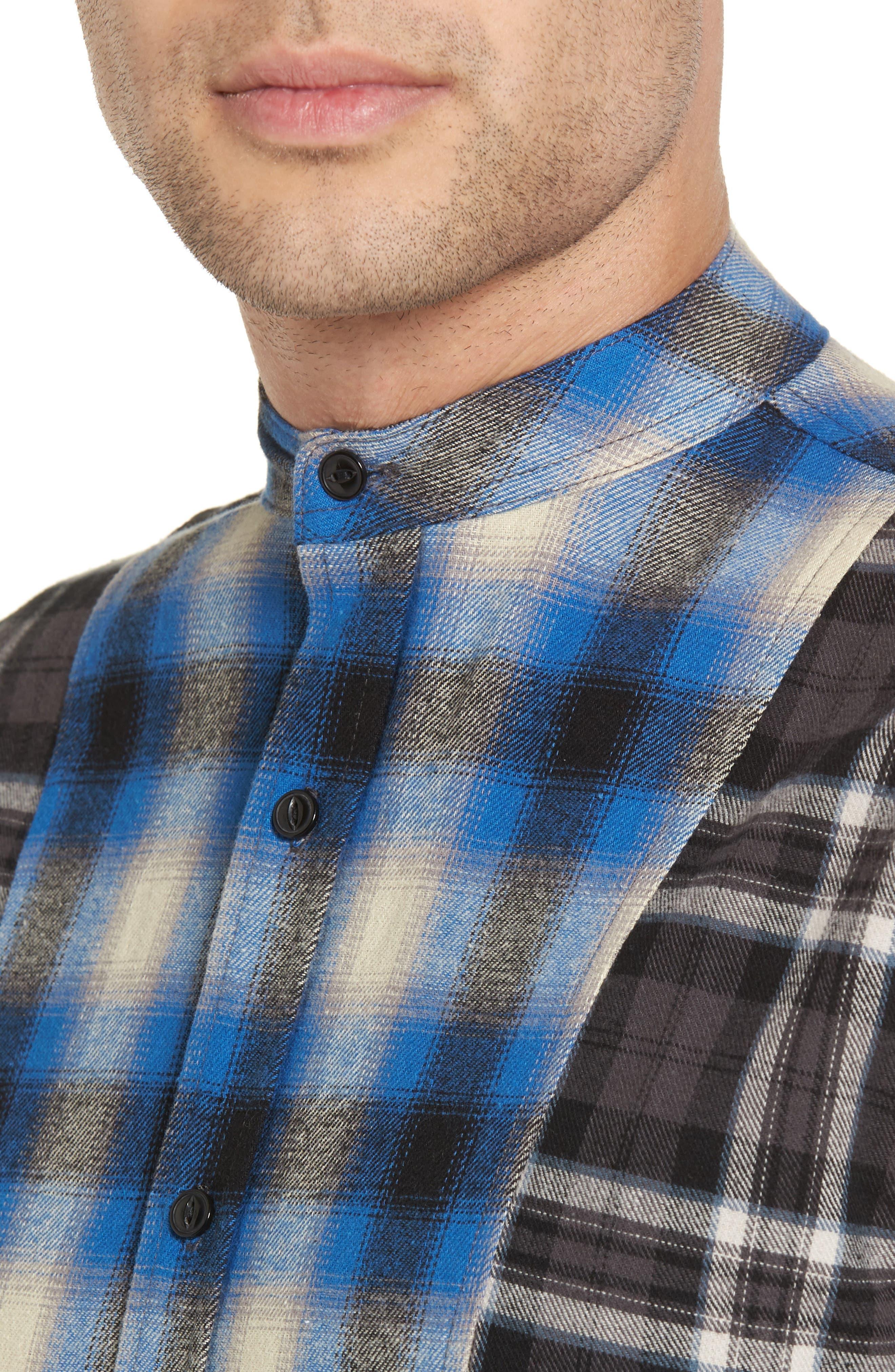 Multi Plaid Woven Shirt,                             Alternate thumbnail 4, color,                             001