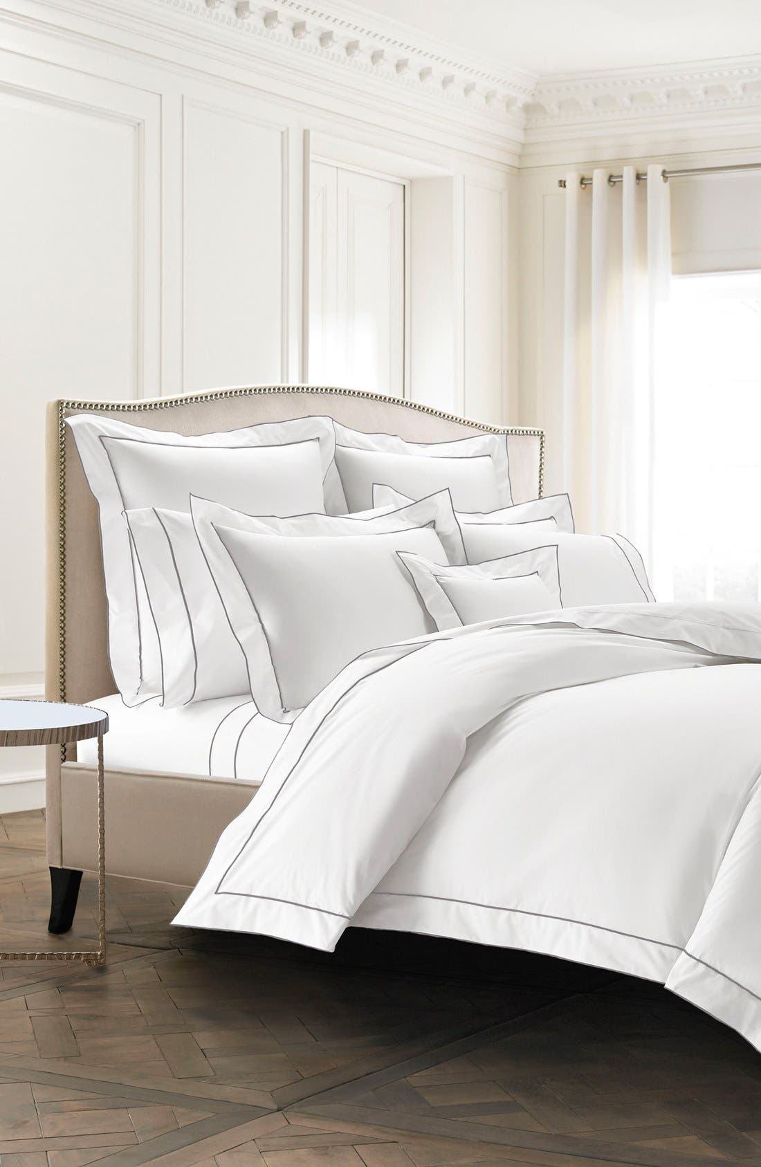 Sorrento 200 Thread Count Fitted Sheet,                             Alternate thumbnail 2, color,                             050