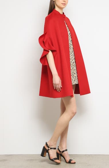 Ruffle Sleeve Compact Wool & Cashmere Cape, video thumbnail
