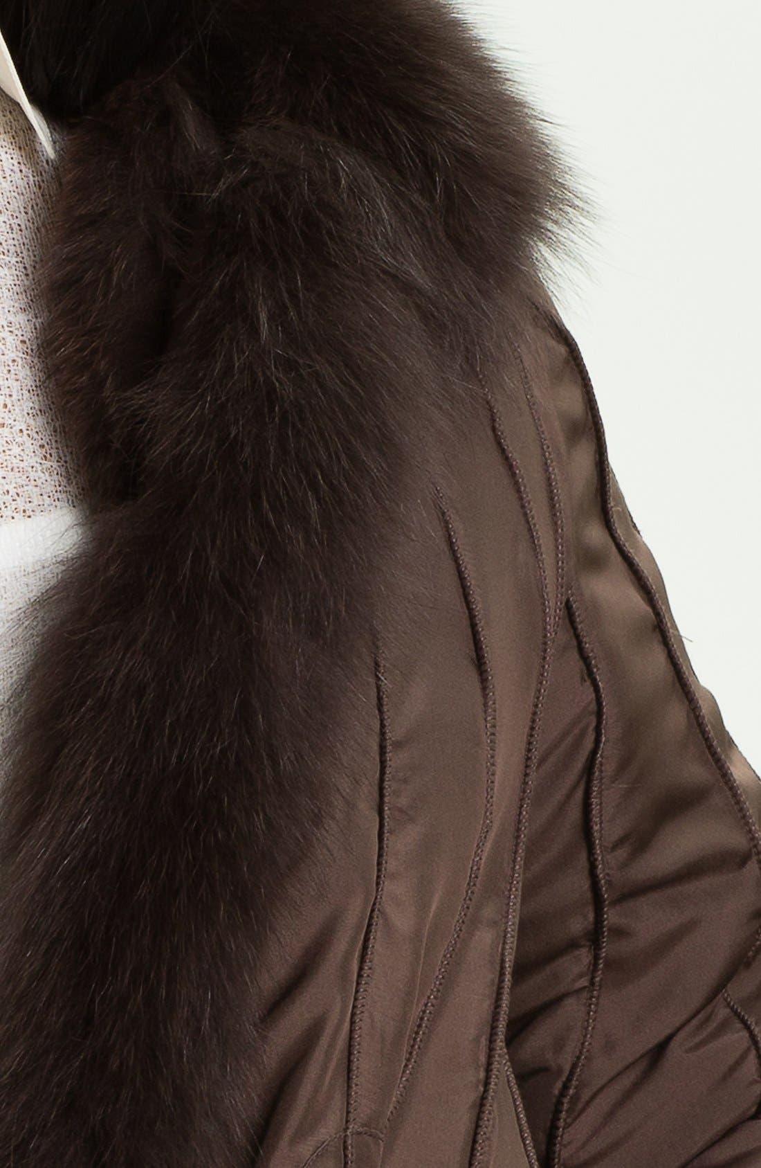 Couture Reversible Silk & Genuine Fox Fur Jacket,                             Alternate thumbnail 4, color,