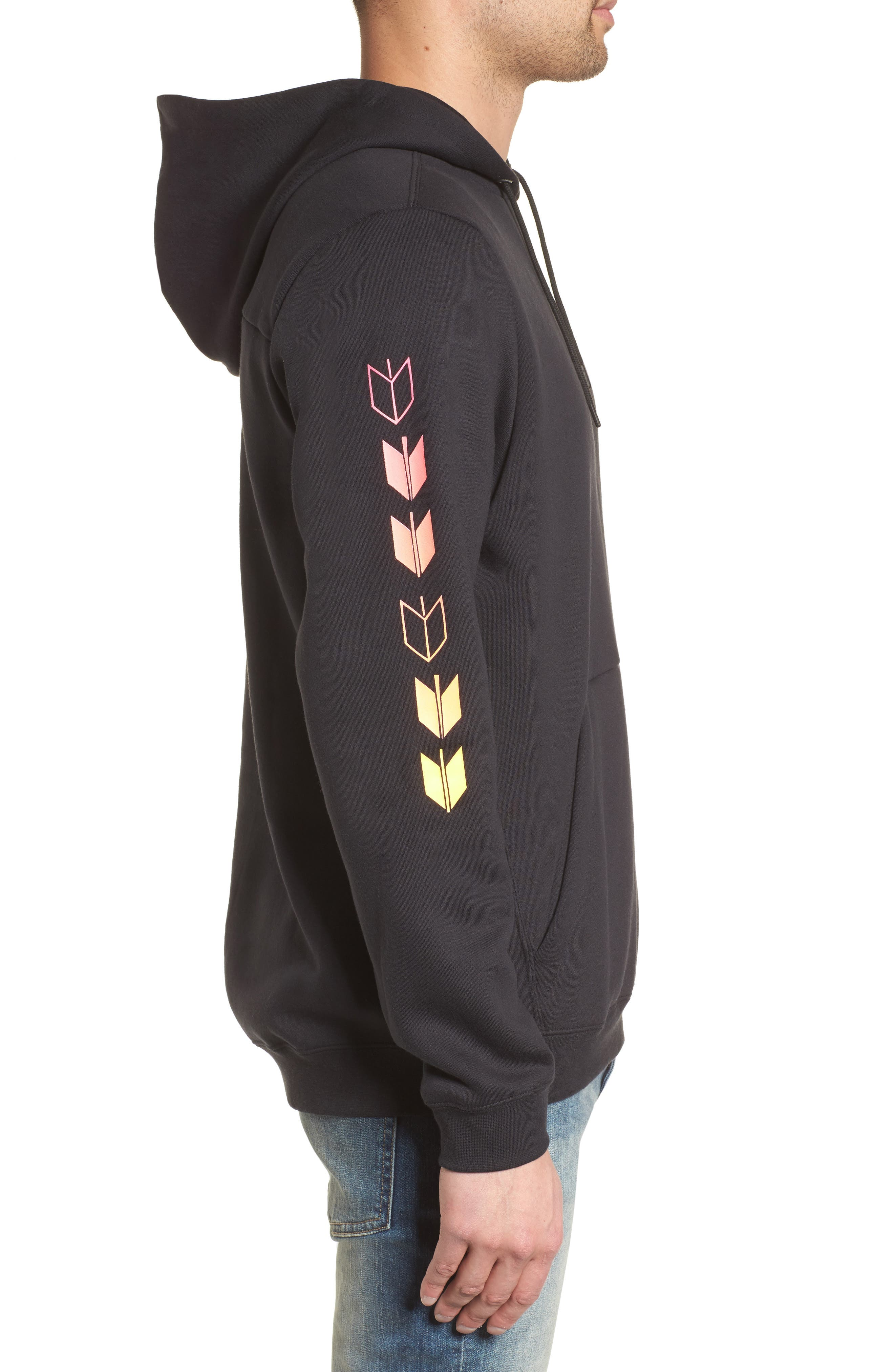 Surf Check Sig Zane Pullover Hoodie,                             Alternate thumbnail 3, color,                             010