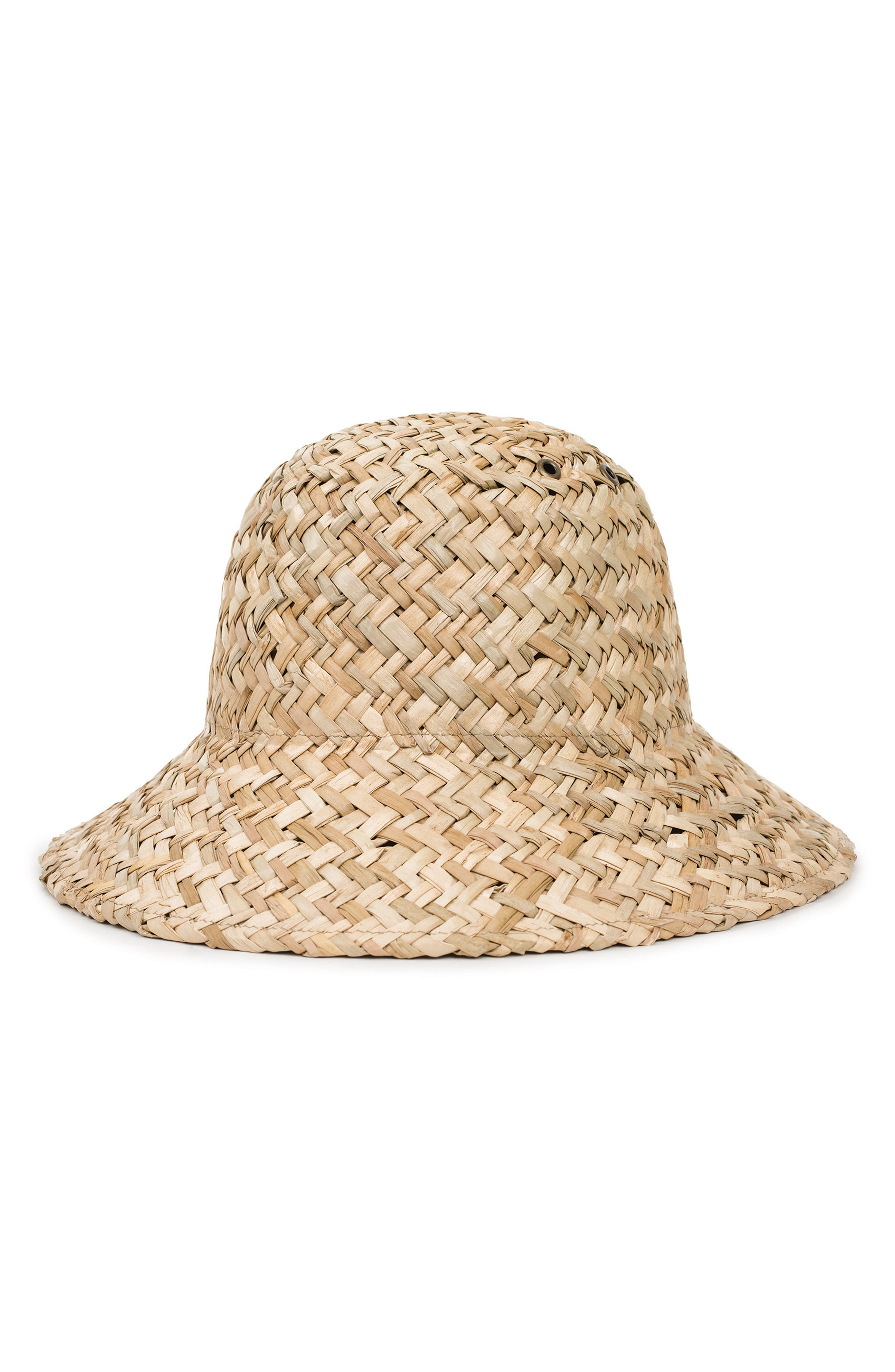 Kennedy Straw Hat,                         Main,                         color, DARK TAN