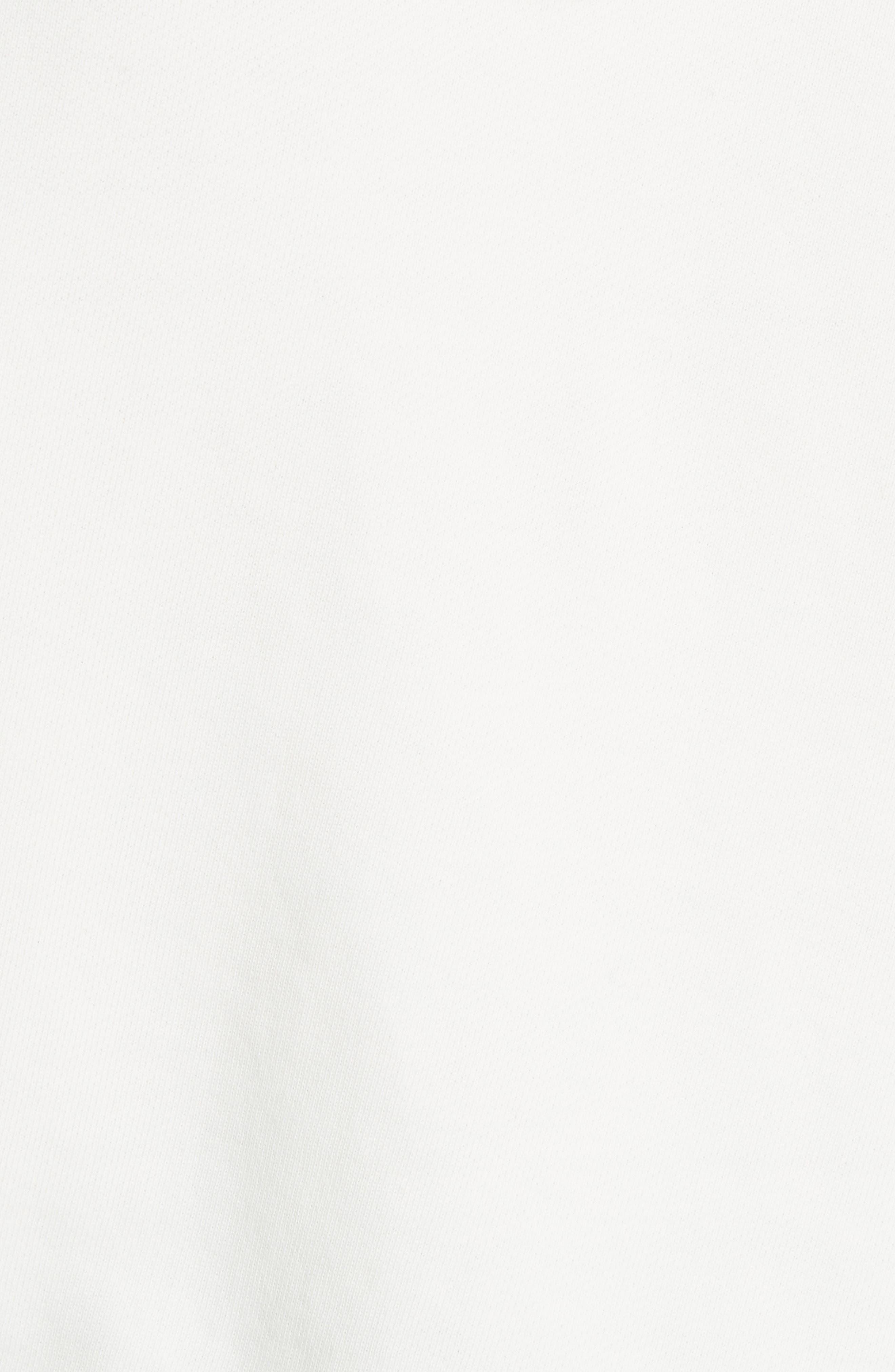 Doll Studded Logo Sweatshirt,                             Alternate thumbnail 5, color,                             VINTAGE WHITE