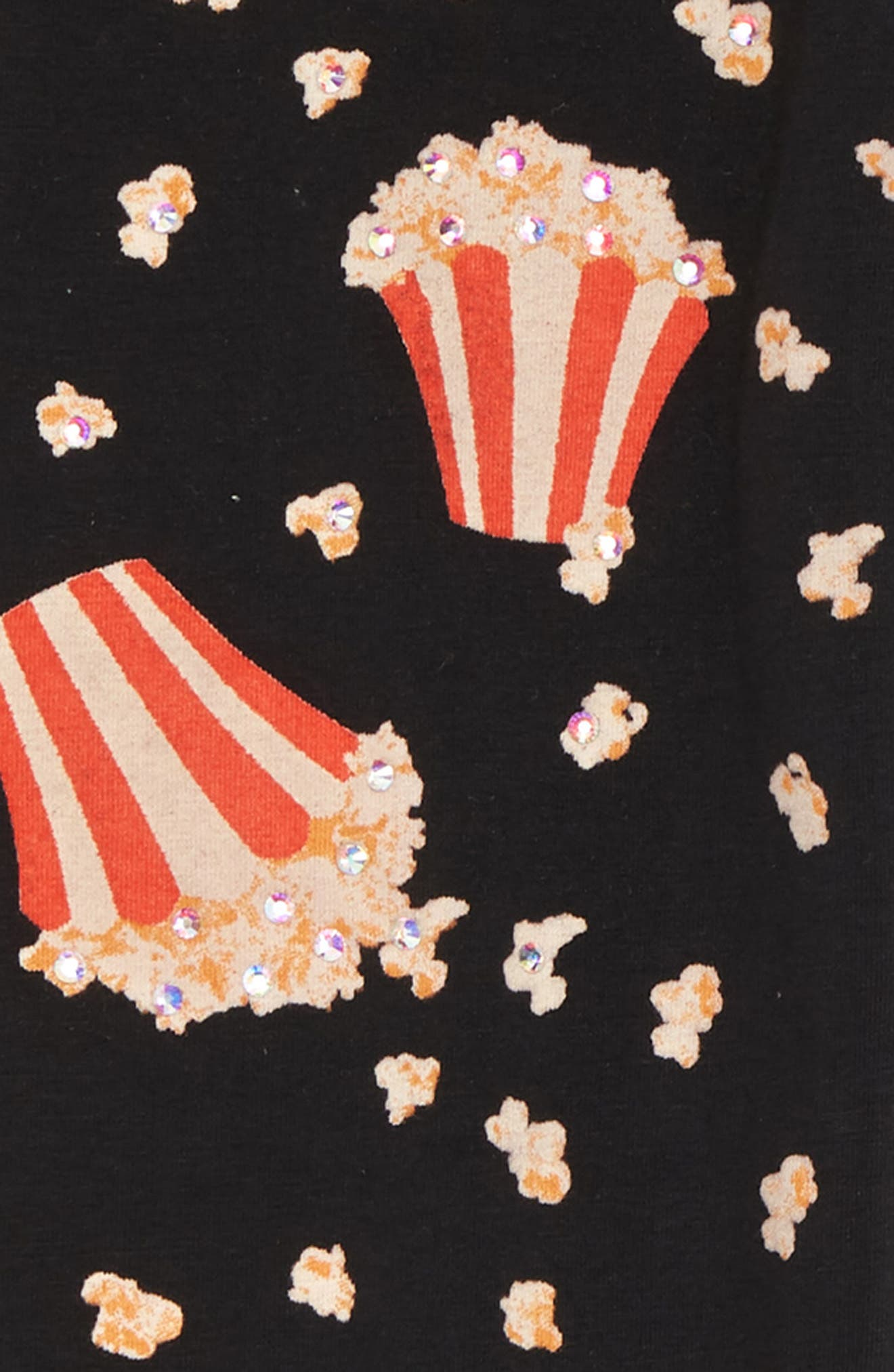 Popcorn Print Leggings,                             Alternate thumbnail 4, color,                             001