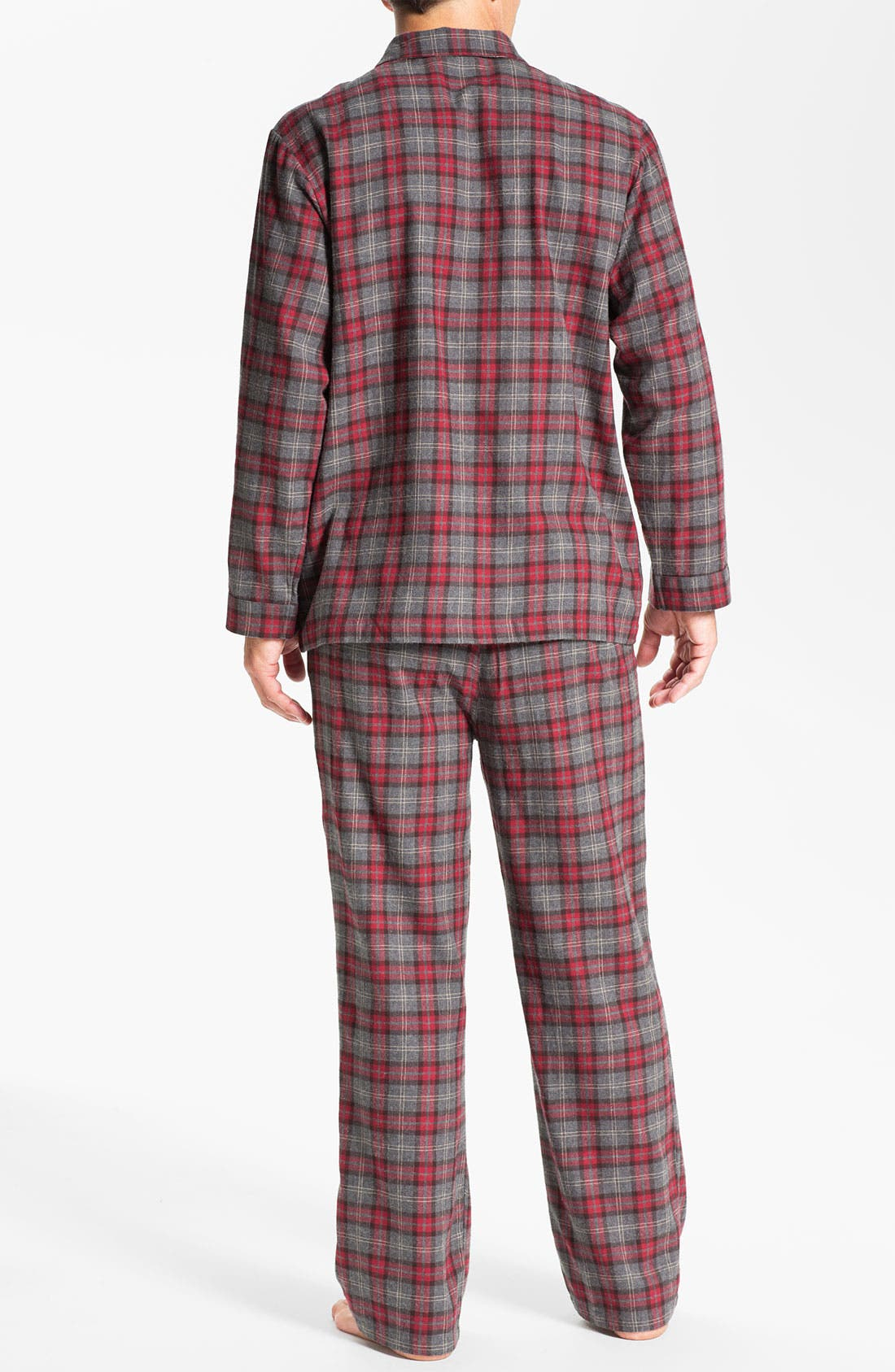 '824' Flannel Pajama Set,                             Alternate thumbnail 47, color,