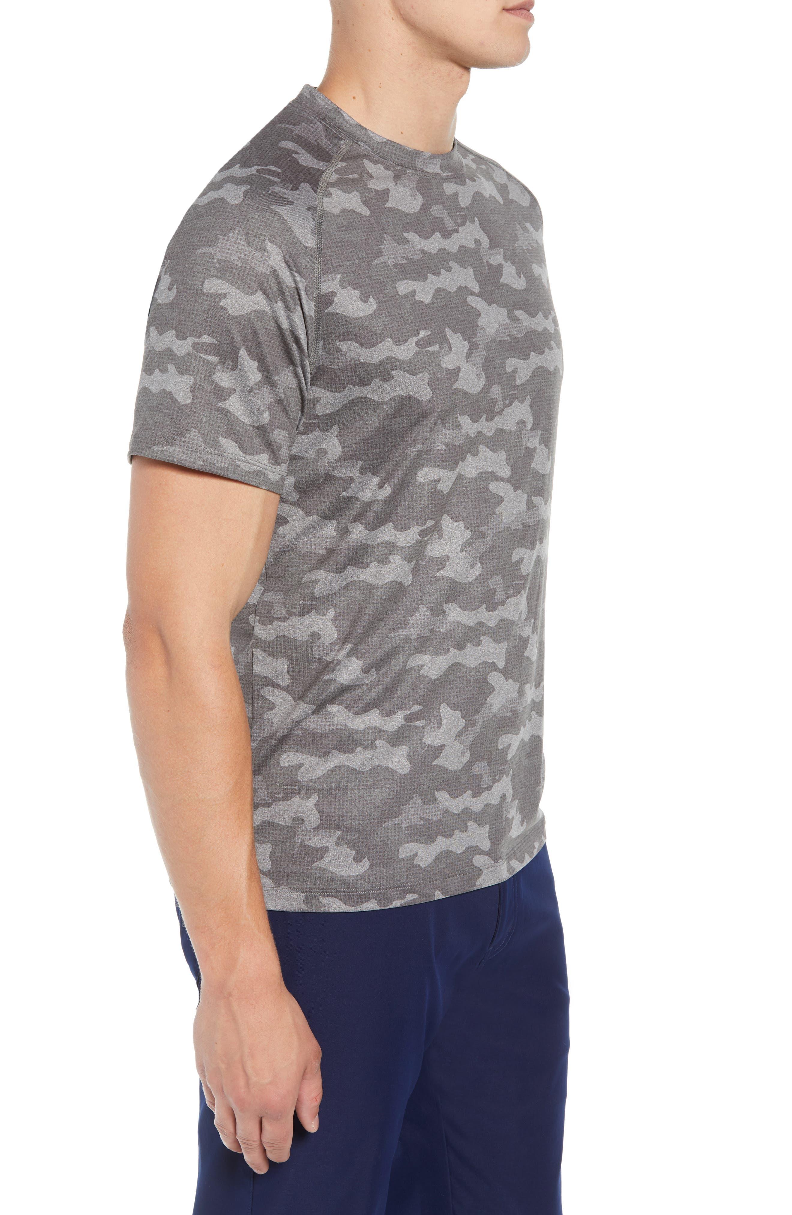 Rio Camo Tech T-Shirt,                             Alternate thumbnail 3, color,                             GREY