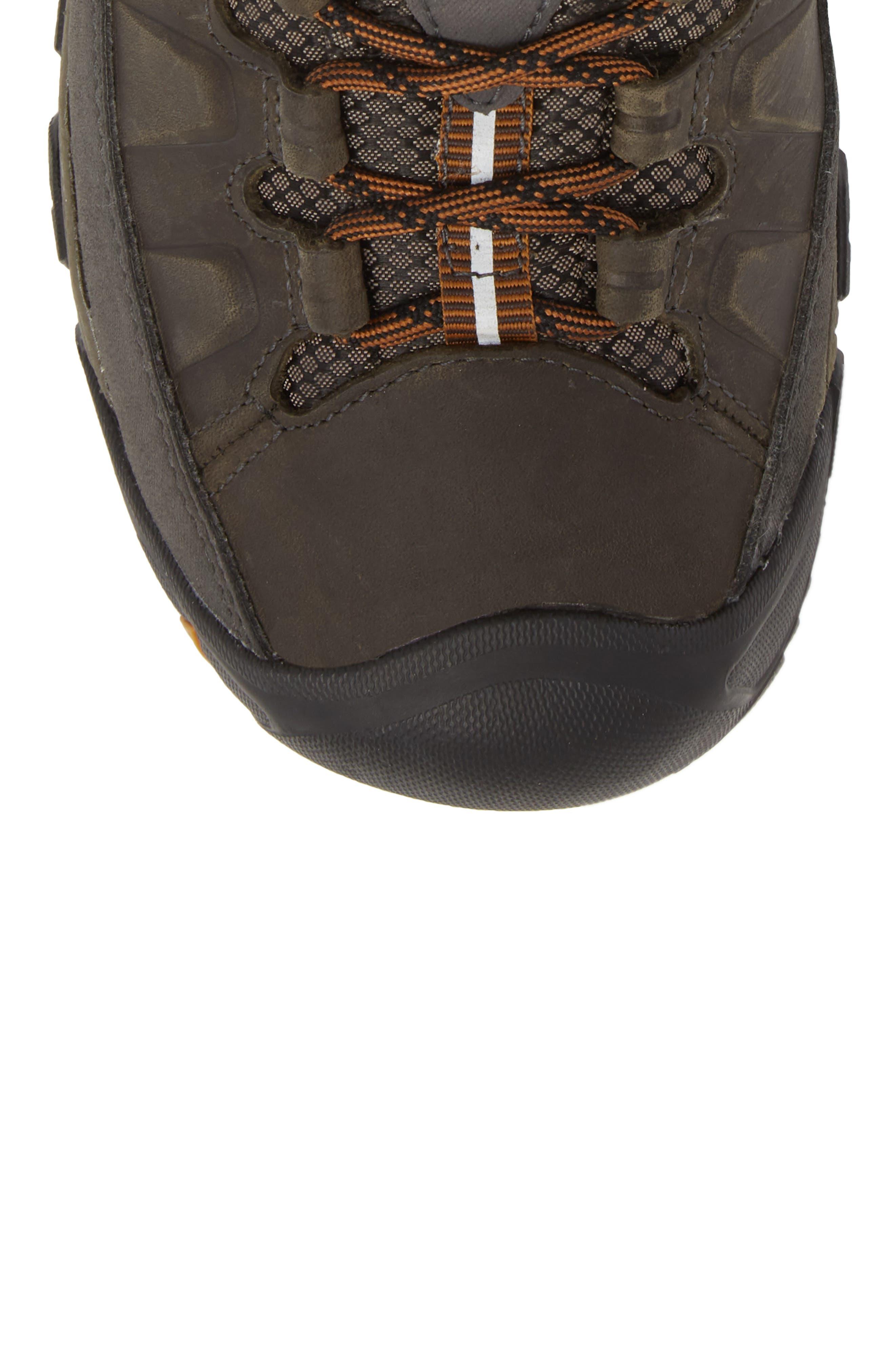 Targhee III Mid Waterproof Hiking Boot,                             Alternate thumbnail 5, color,                             BLACK OLIVE/GOLDEN BROWN