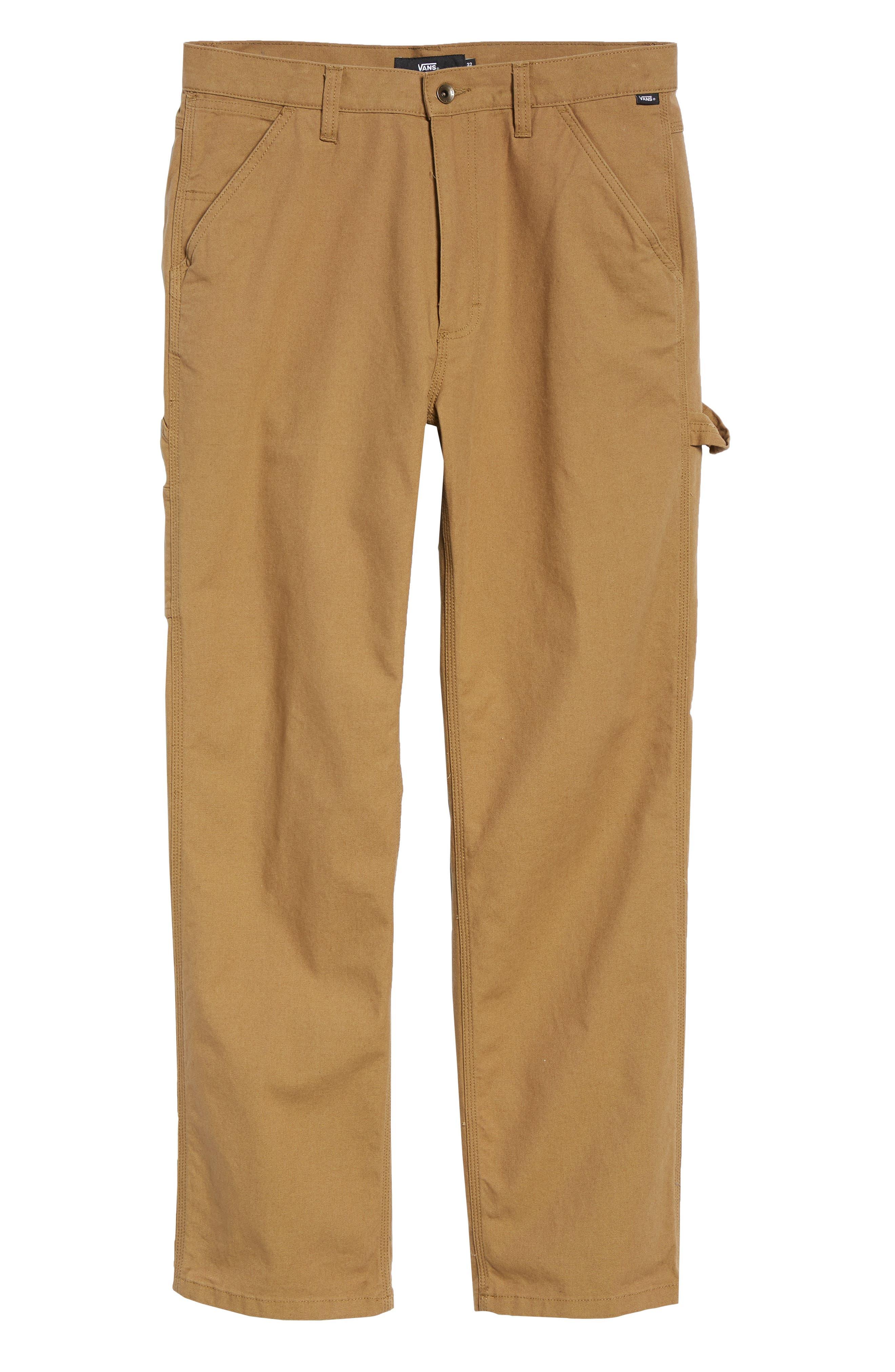 Hardware Straight Fit Carpenter Pants,                             Alternate thumbnail 6, color,                             DIRT