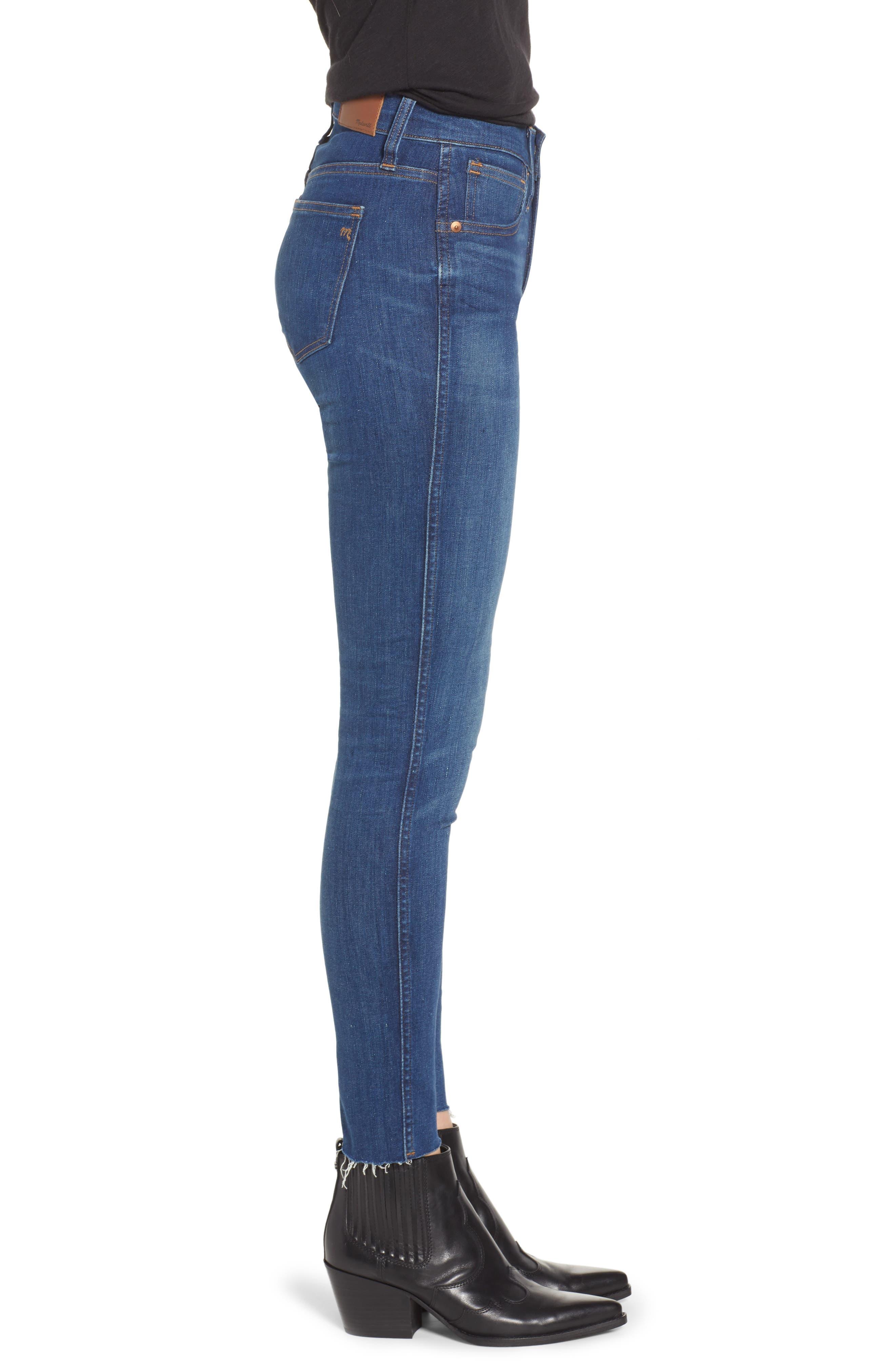 MADEWELL,                             9-Inch Skinny Jeans Raw Hem Edition,                             Alternate thumbnail 4, color,                             PALOMA