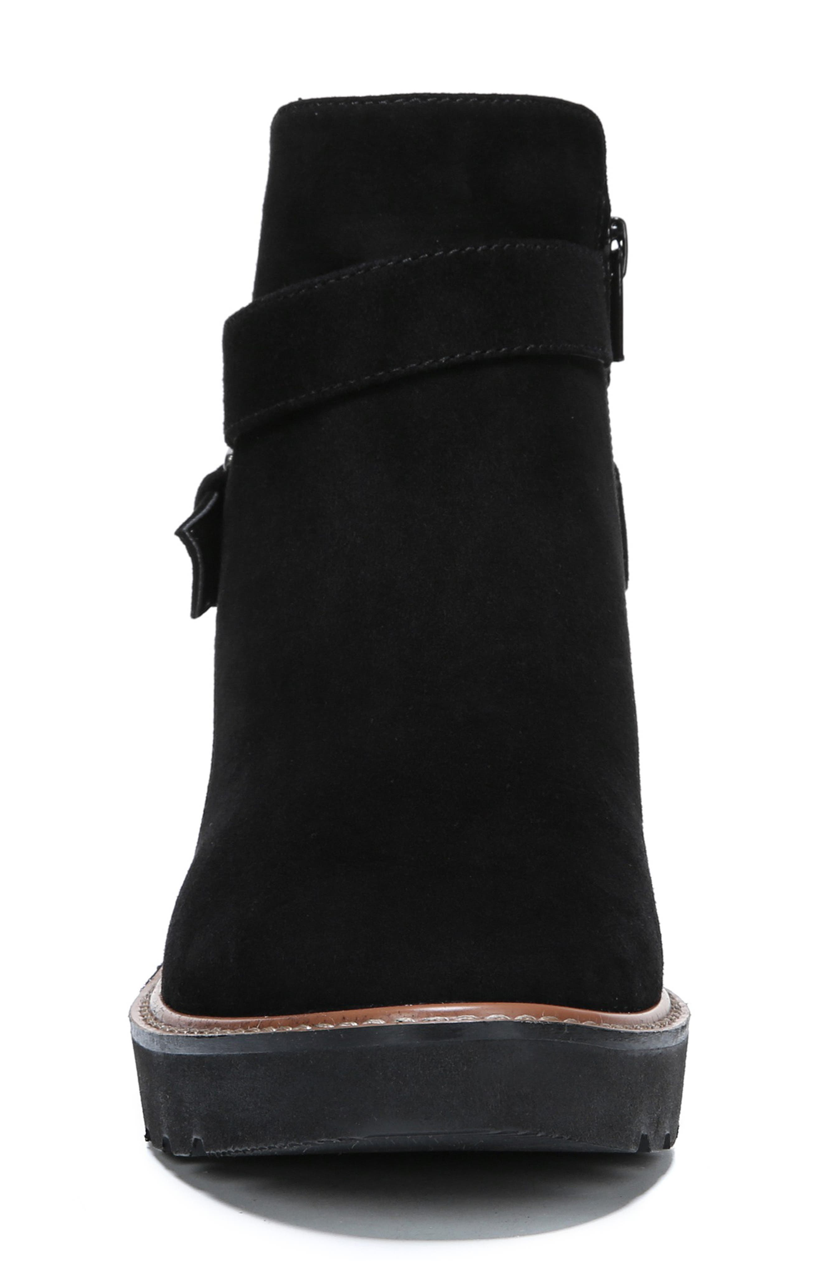 Aster Bootie,                             Alternate thumbnail 4, color,                             BLACK SUEDE