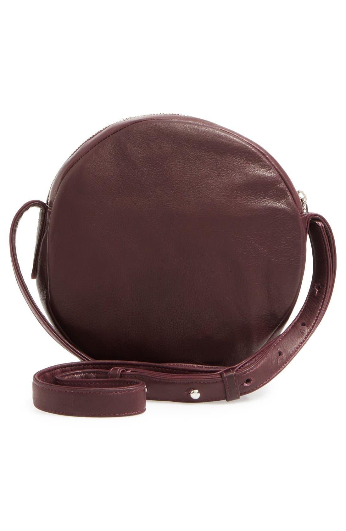 Pebbled Leather Crossbody Bag,                             Alternate thumbnail 14, color,
