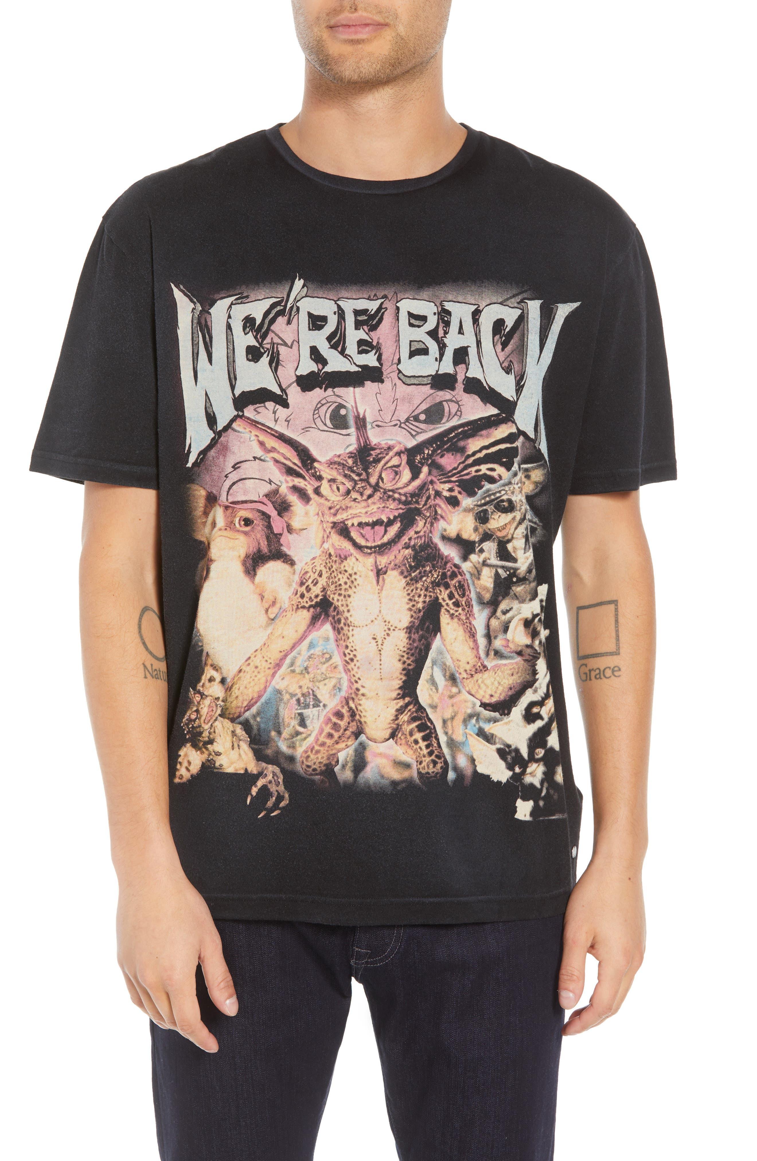 We're Back Graphic T-Shirt,                         Main,                         color, BLACK