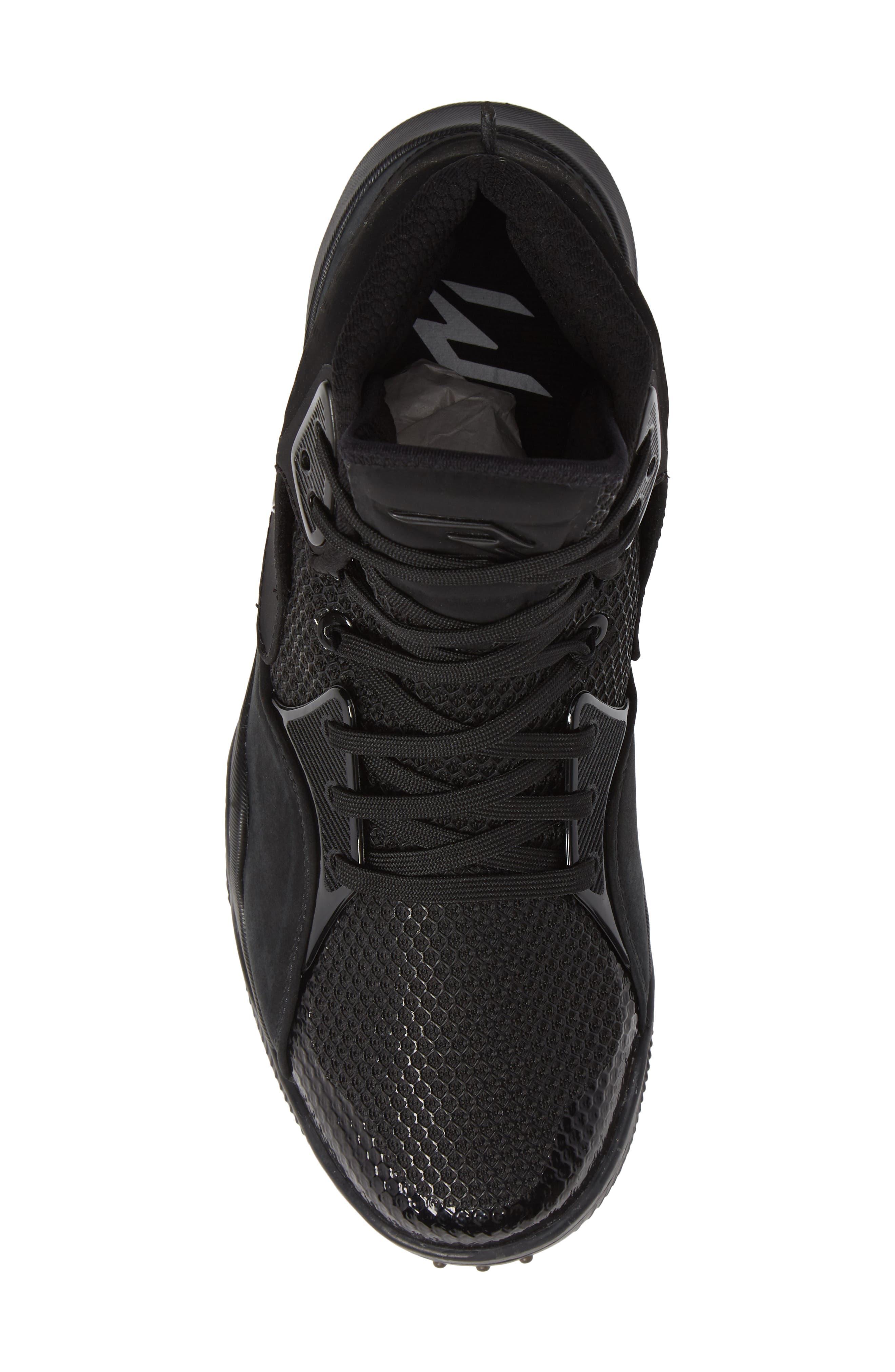 Dangeruss Wilson 1 Sneaker,                             Alternate thumbnail 5, color,                             BLACK/ METALLIC GOLD