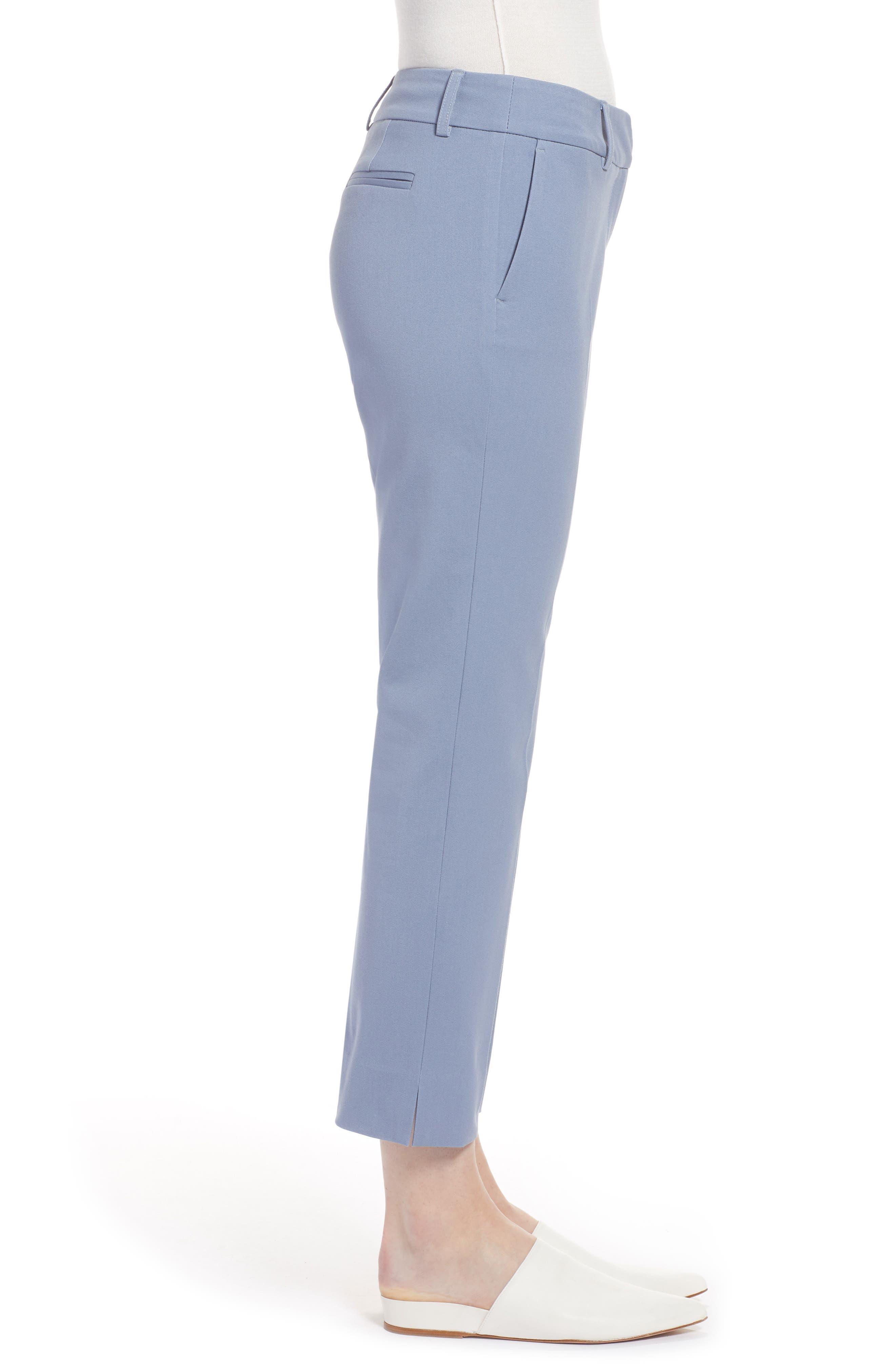 Crop Stretch Cotton Pants,                             Alternate thumbnail 47, color,