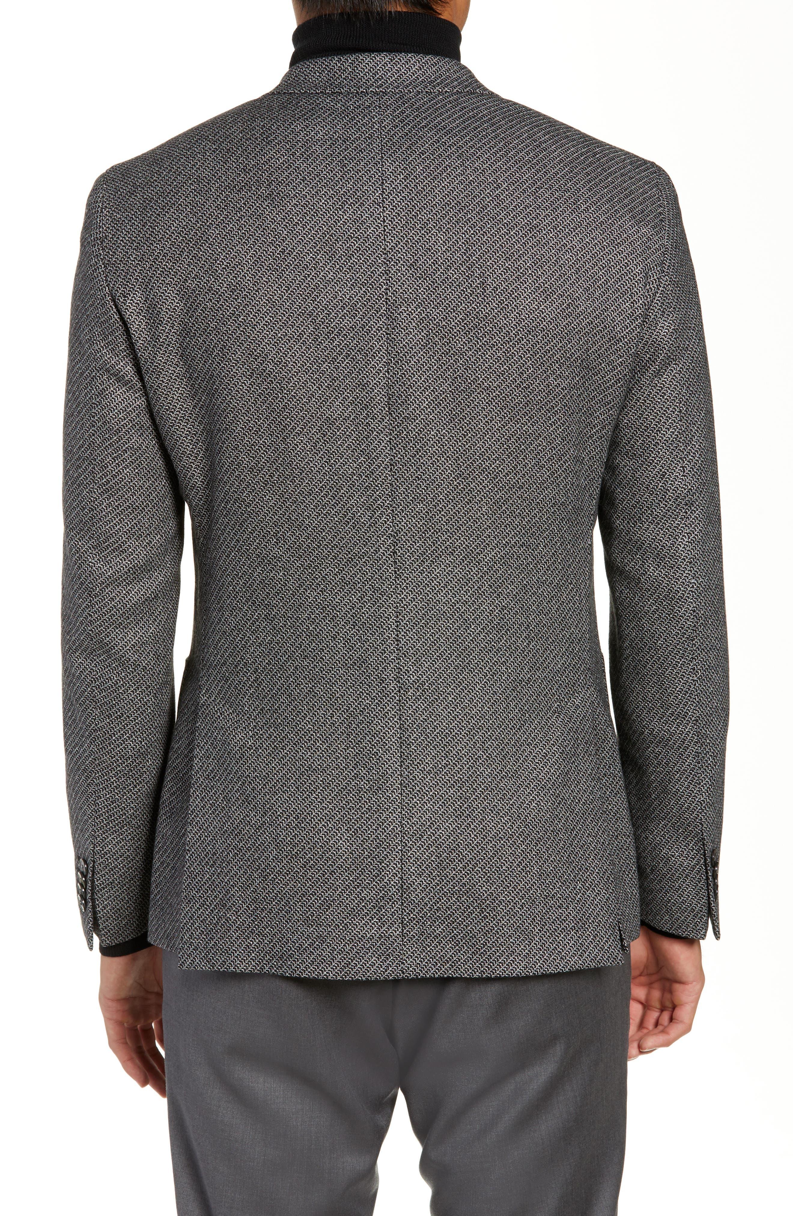 Raye Extra Trim Fit Wool Blend Blazer,                             Alternate thumbnail 2, color,                             DARK GREY