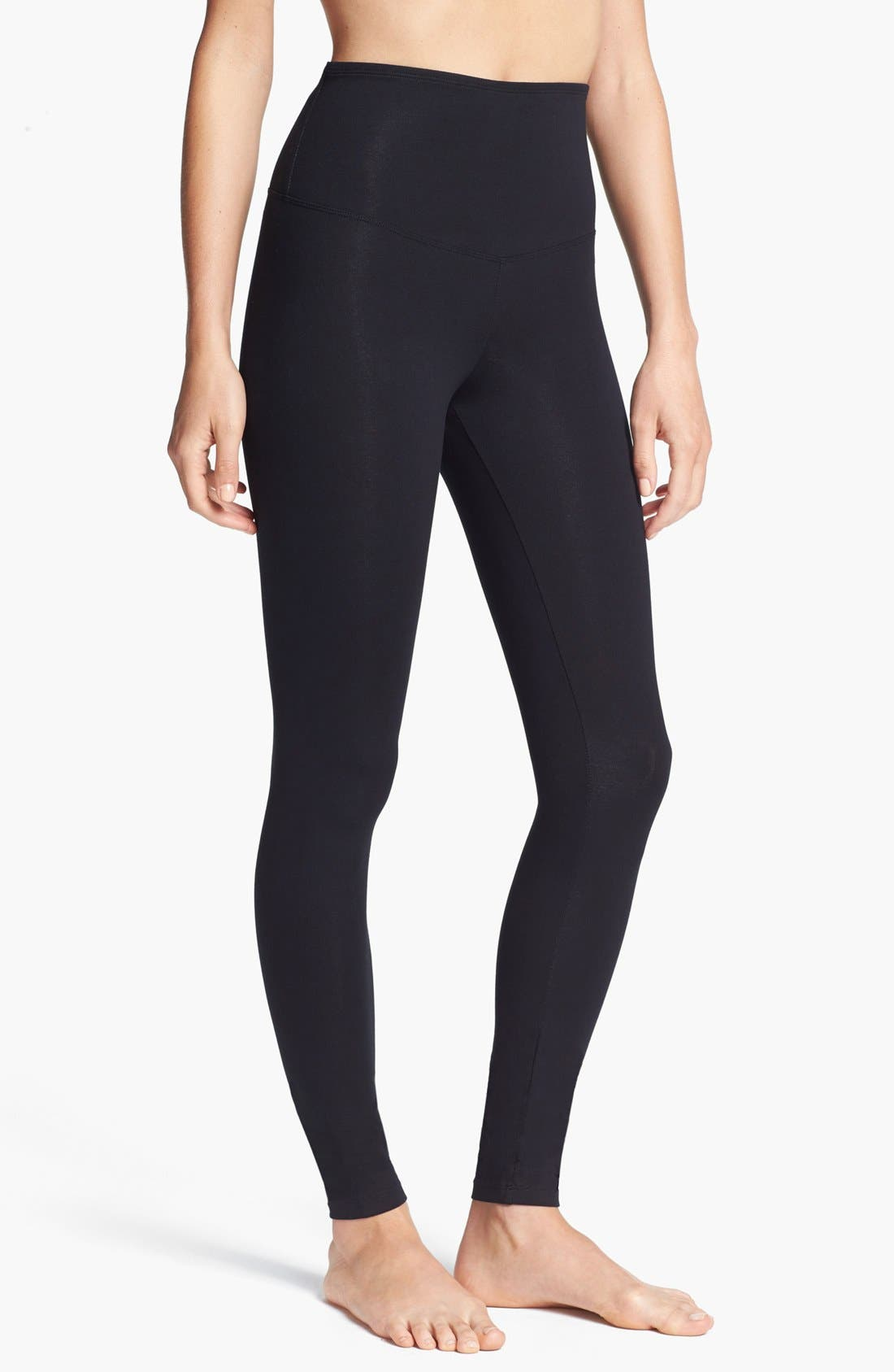 'Rachel' High Waist Leggings,                         Main,                         color, BLACK