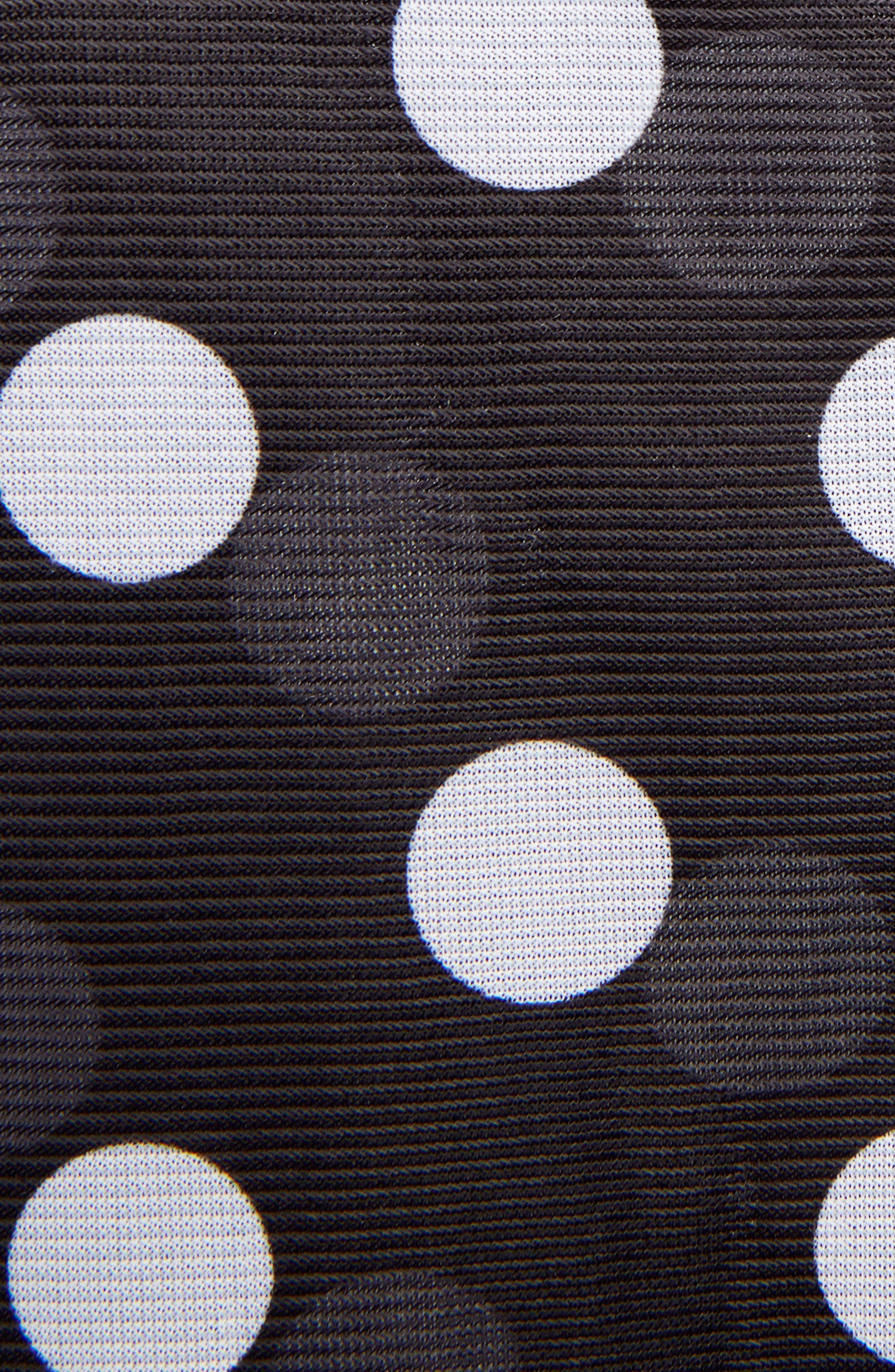 Polka Dot Minidress with Ditsy Floral Blouse,                             Alternate thumbnail 5, color,                             001