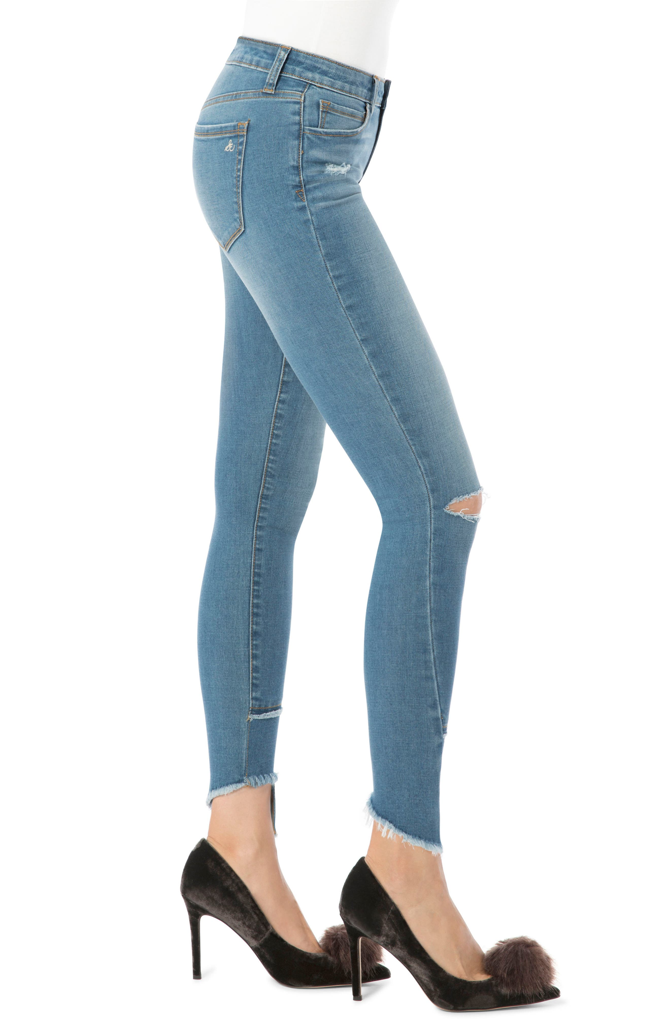 Ripped Kitten Jeans,                             Alternate thumbnail 3, color,                             439
