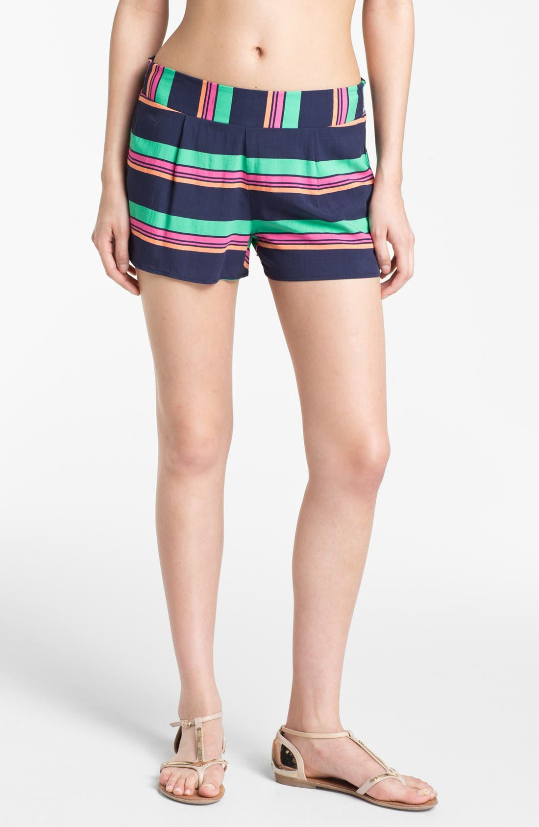 SPLENDID,                             Stripe Shorts,                             Main thumbnail 1, color,                             411