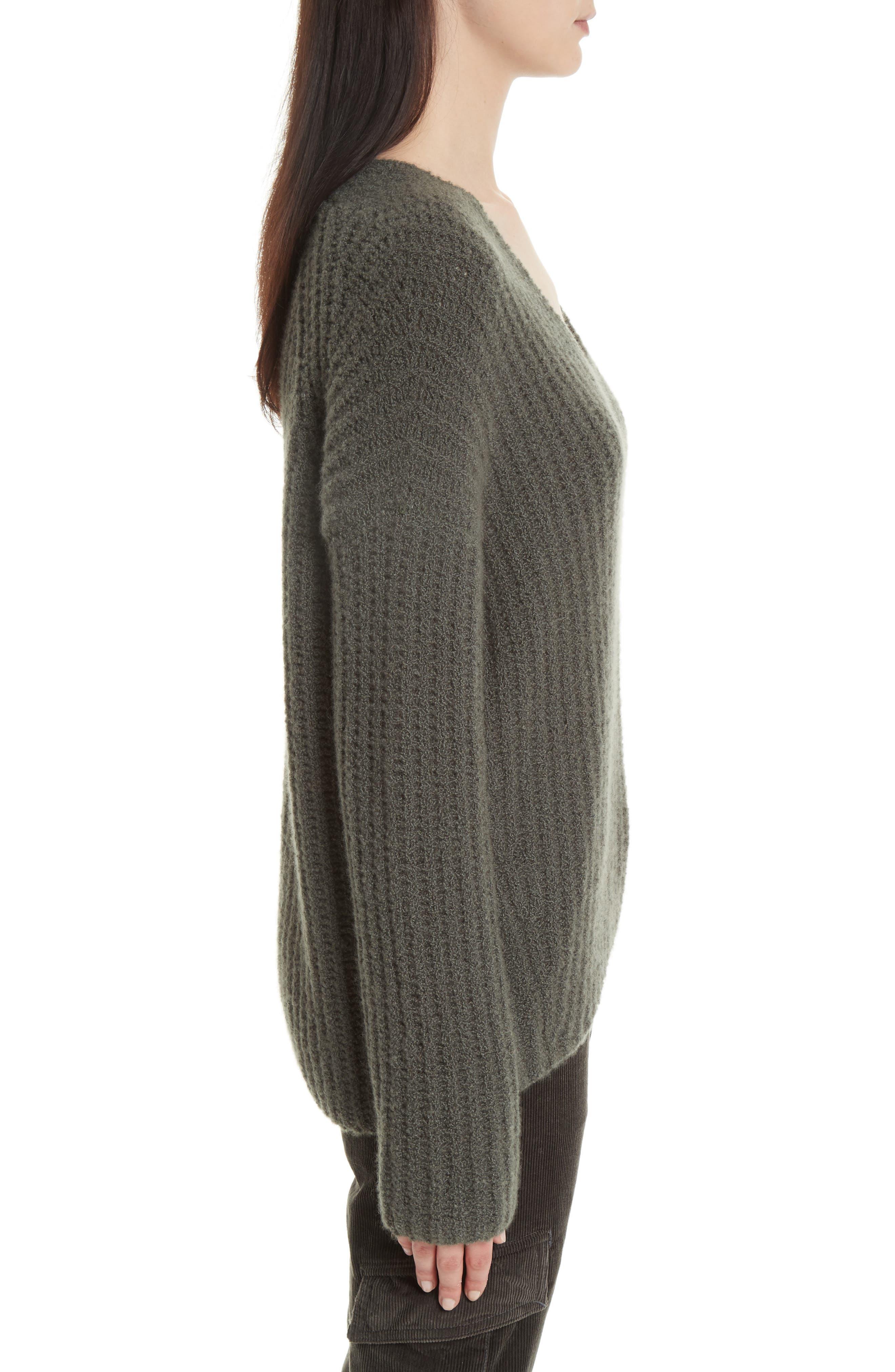 Deep V-Neck Cashmere Blend Sweater,                             Alternate thumbnail 8, color,