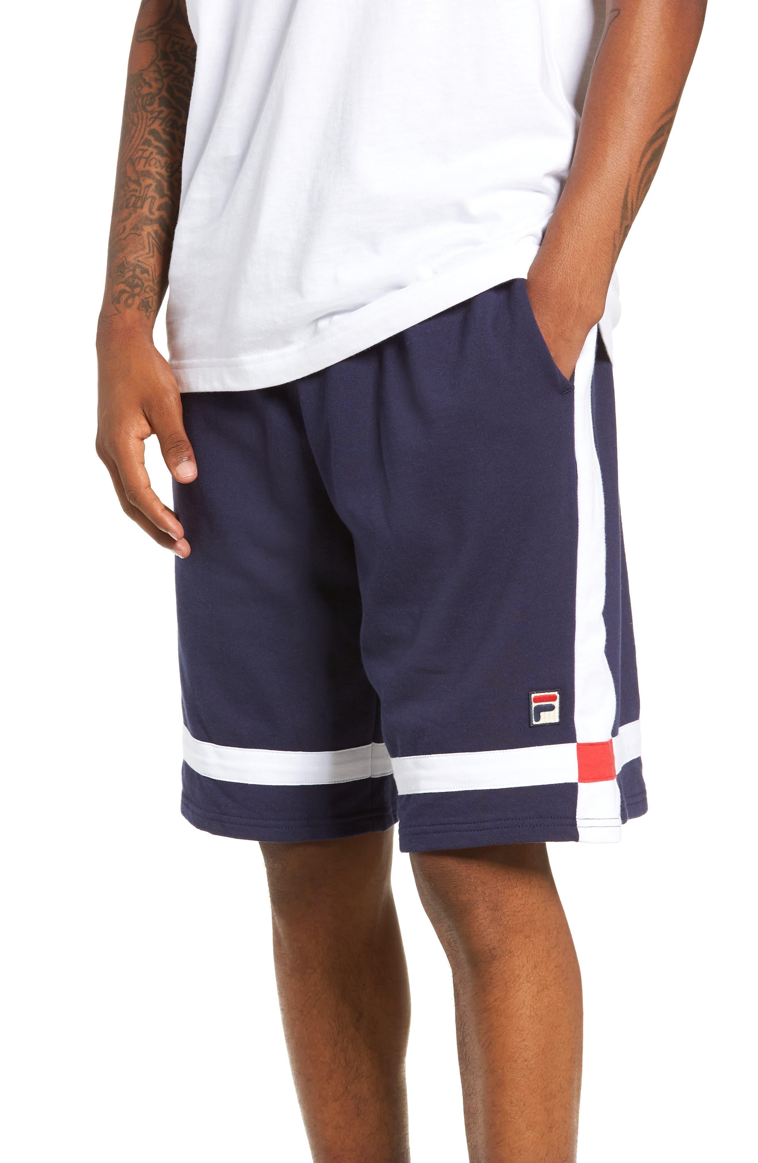 Striped Athletic Shorts,                             Main thumbnail 1, color,                             410