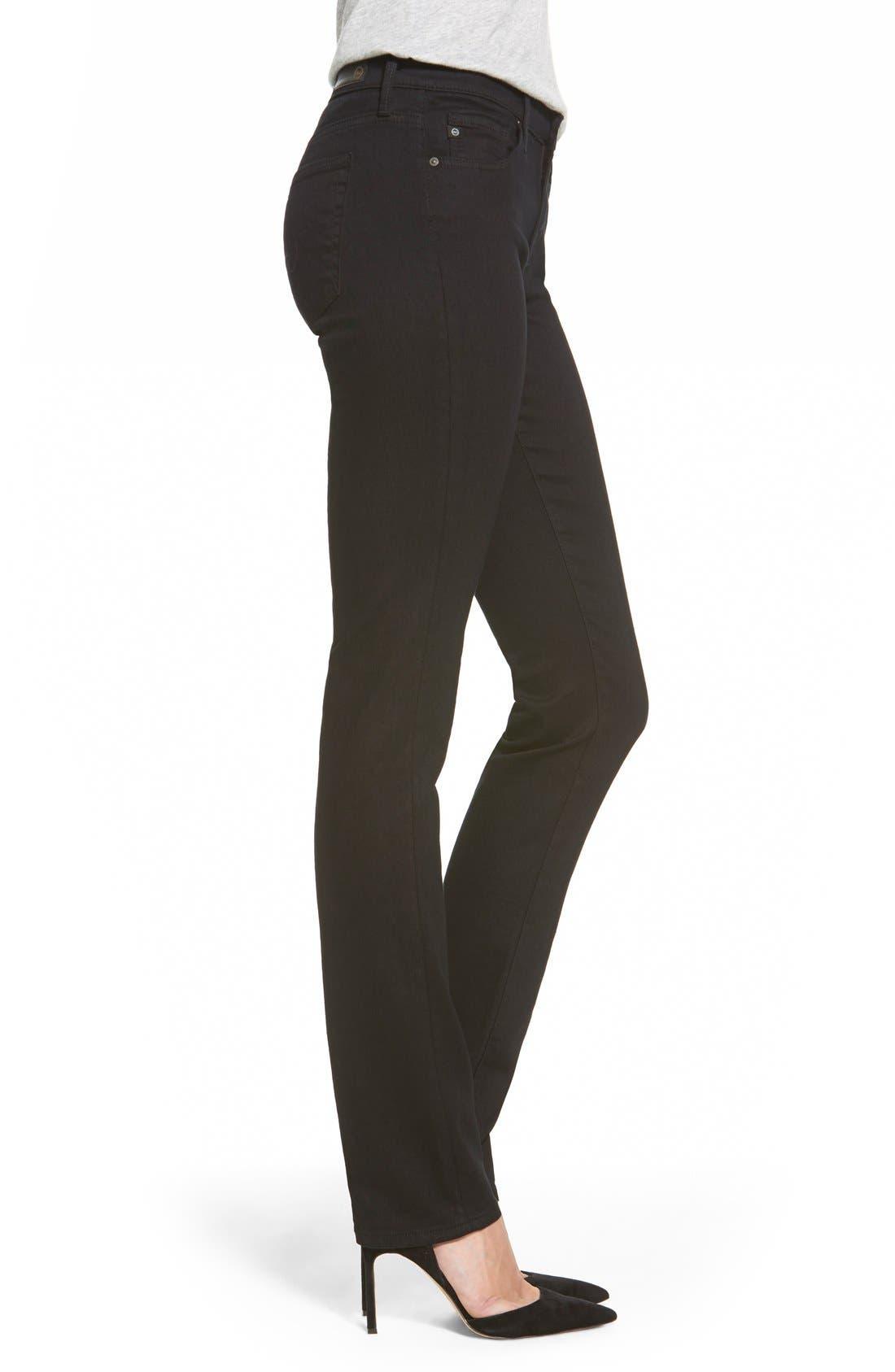 Harper Slim Straight Leg Jeans,                             Alternate thumbnail 4, color,                             OVERDYED BLACK
