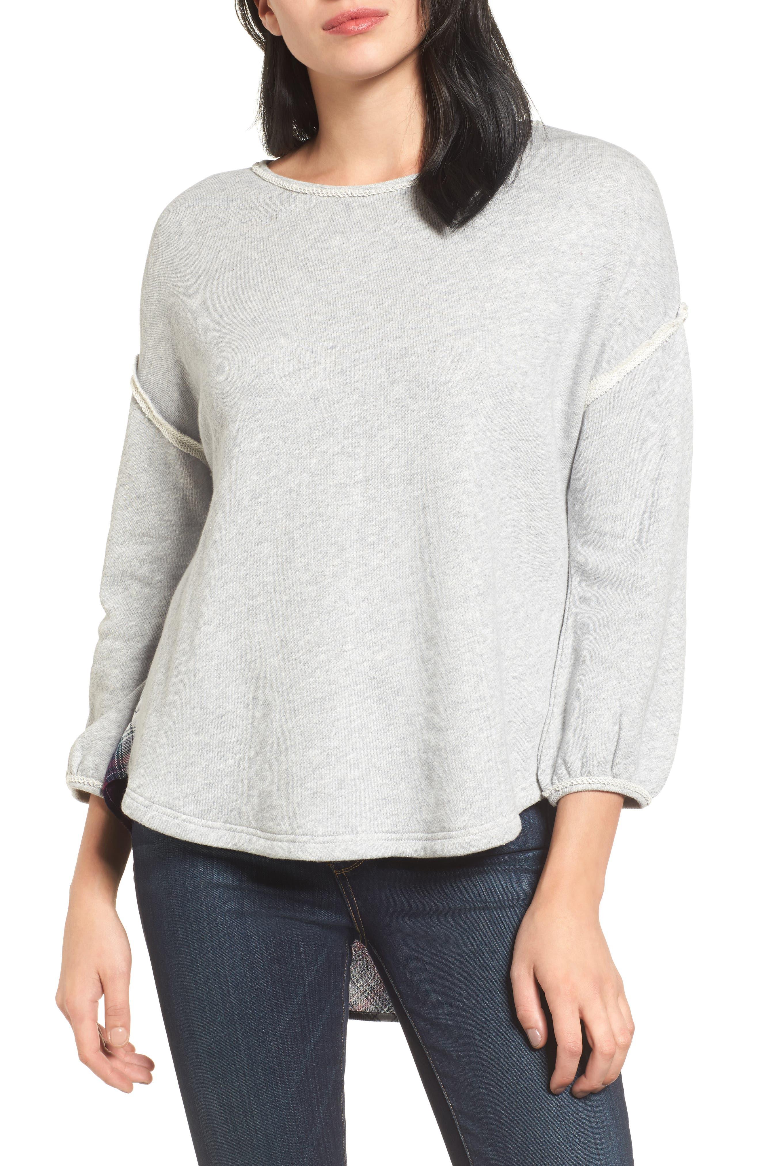 Layered Look Sweatshirt,                         Main,                         color, 021