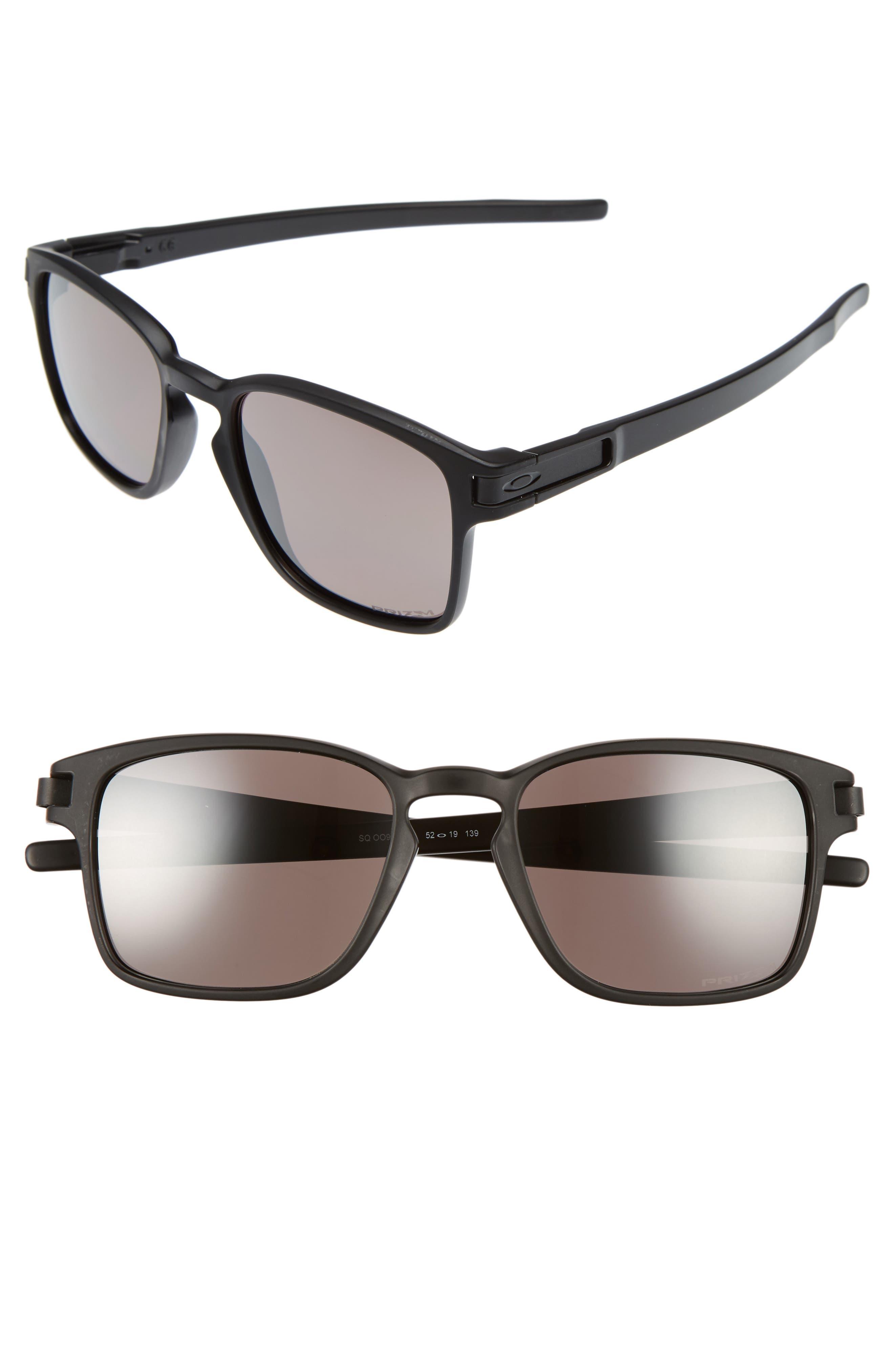 Latch 52mm Polarized Rectangular Sunglasses,                         Main,                         color, 001