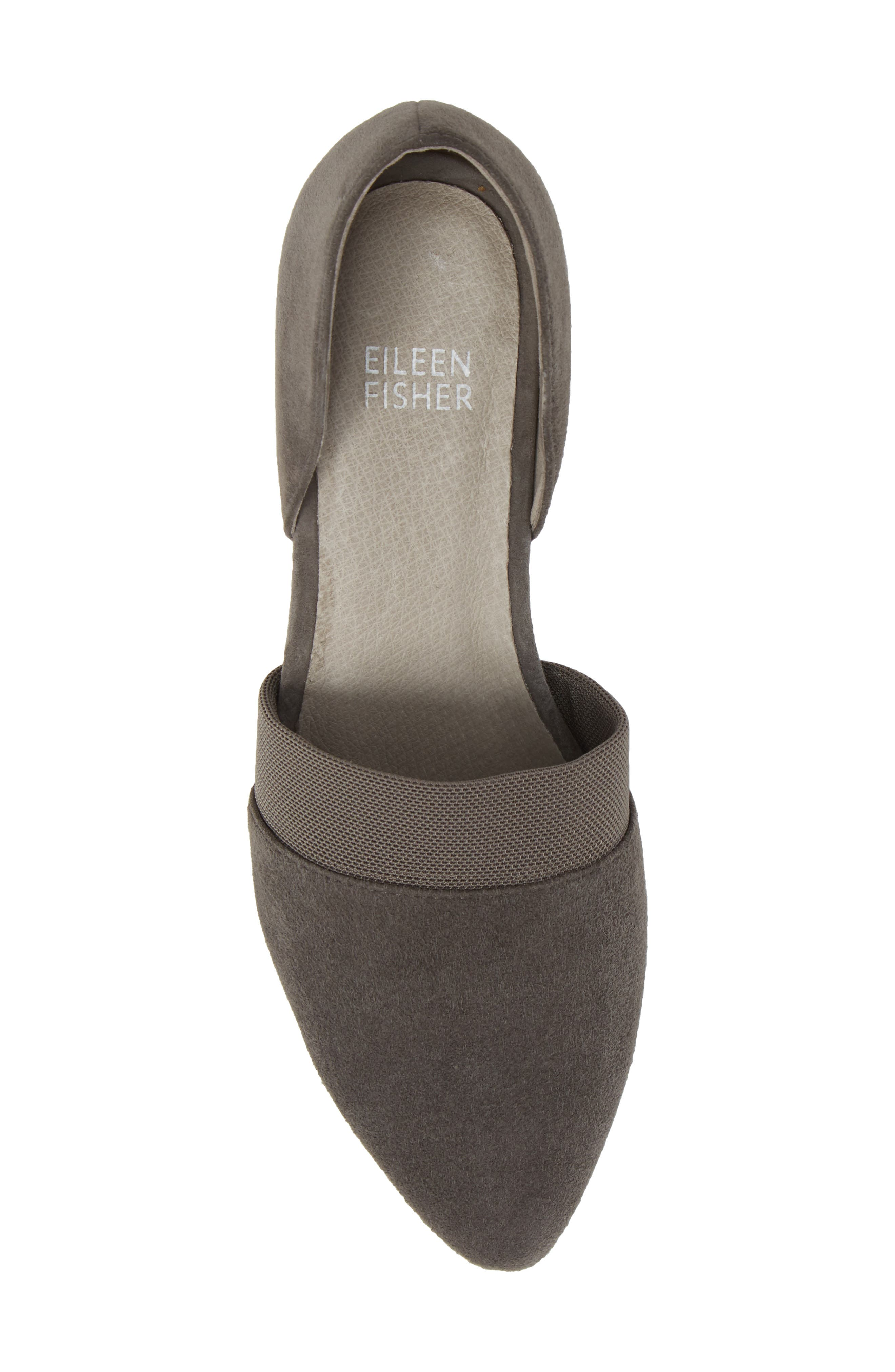 Hilly d'Orsay Pump,                             Alternate thumbnail 5, color,                             GRAPHITE SUEDE
