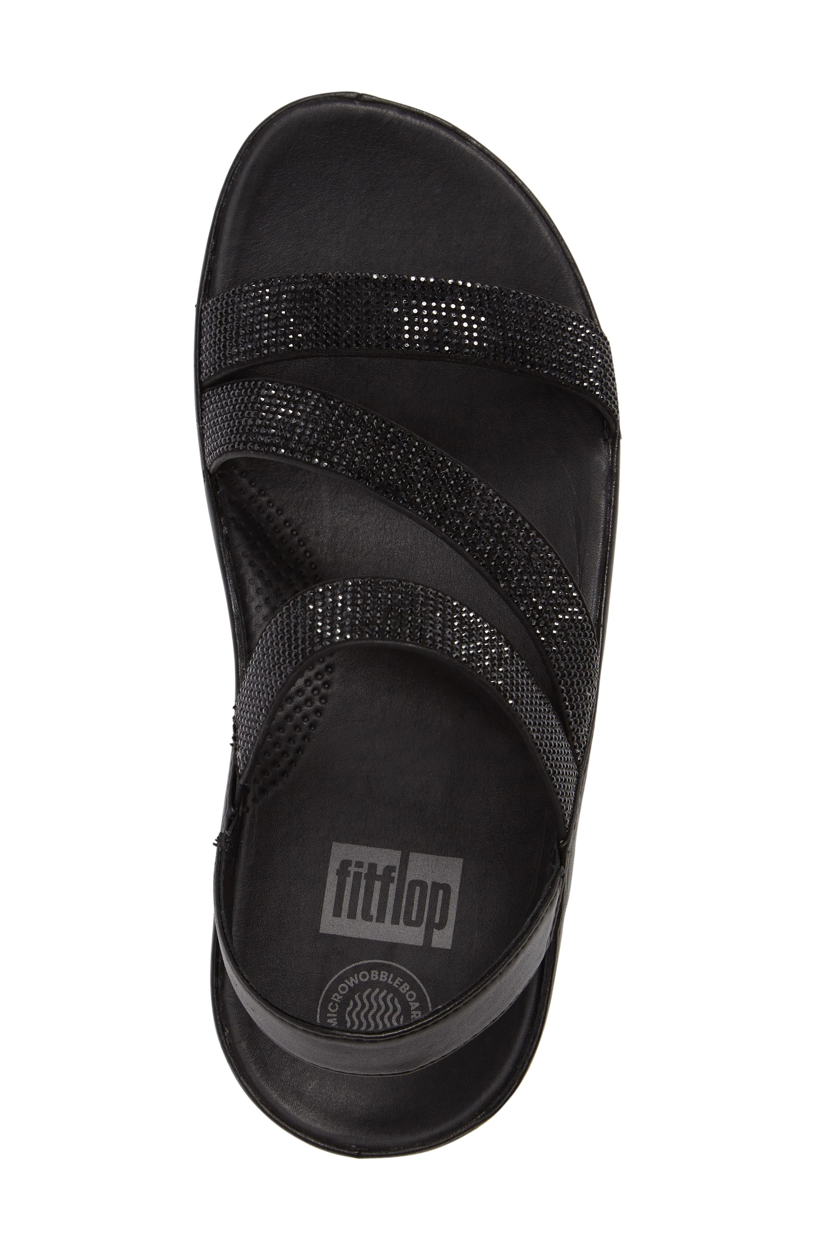 FITFLOP,                              Crystall Wedge Sandal,                             Alternate thumbnail 5, color,                             001