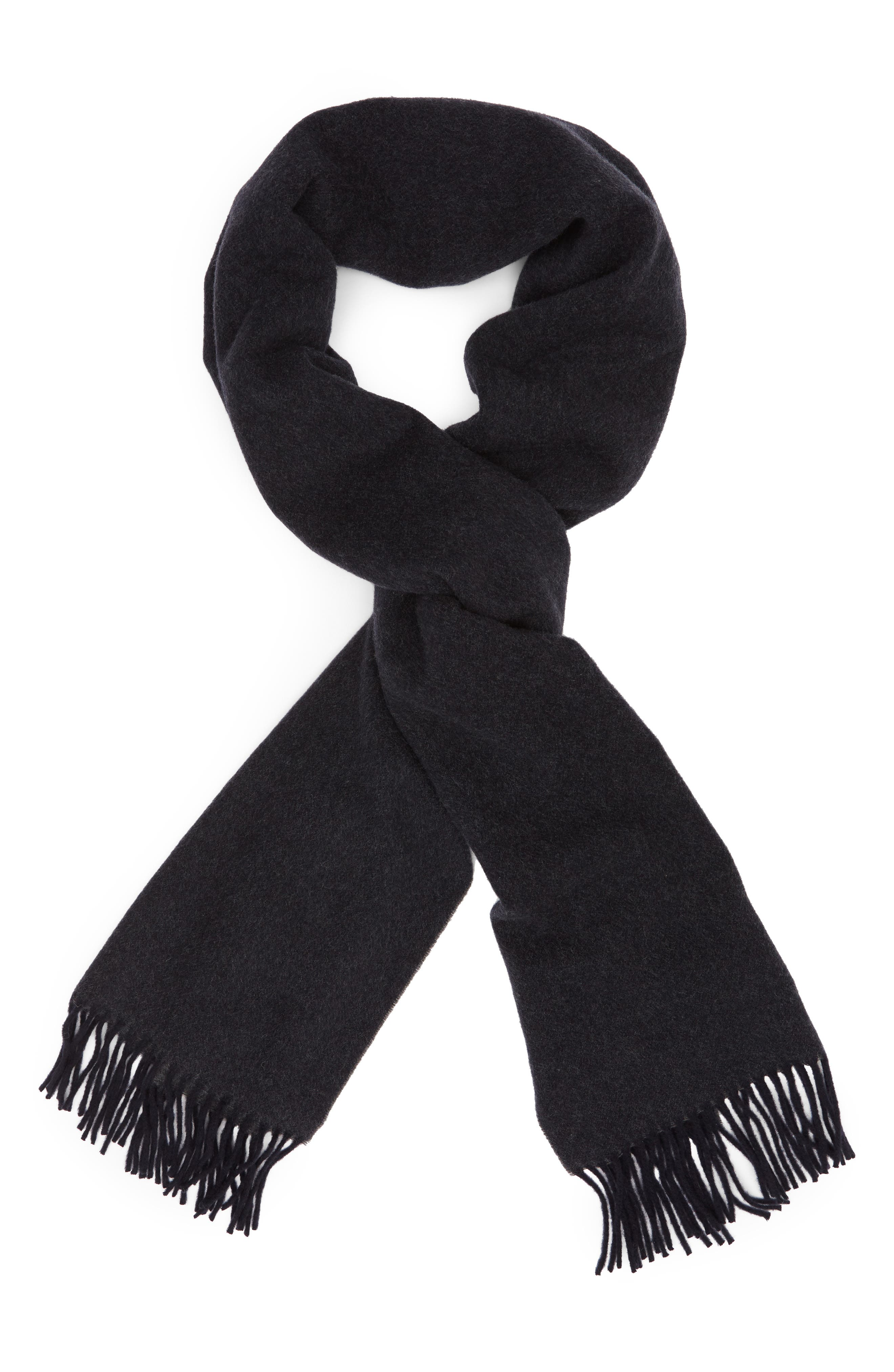 Two Tone Woven Wool Scarf,                             Alternate thumbnail 2, color,                             NAVY