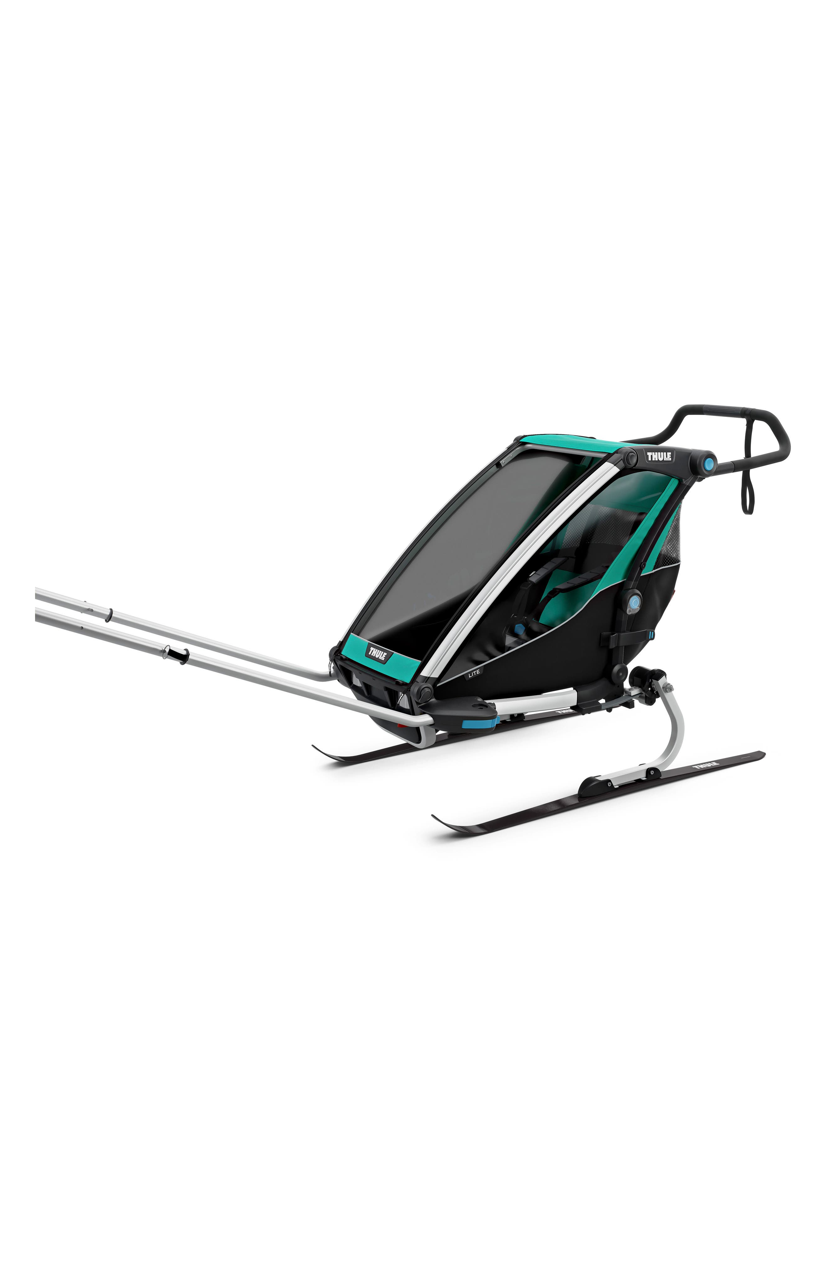 Chariot Lite Multisport Cycle Trailer/Stroller,                             Alternate thumbnail 6, color,                             BLUEGRASS