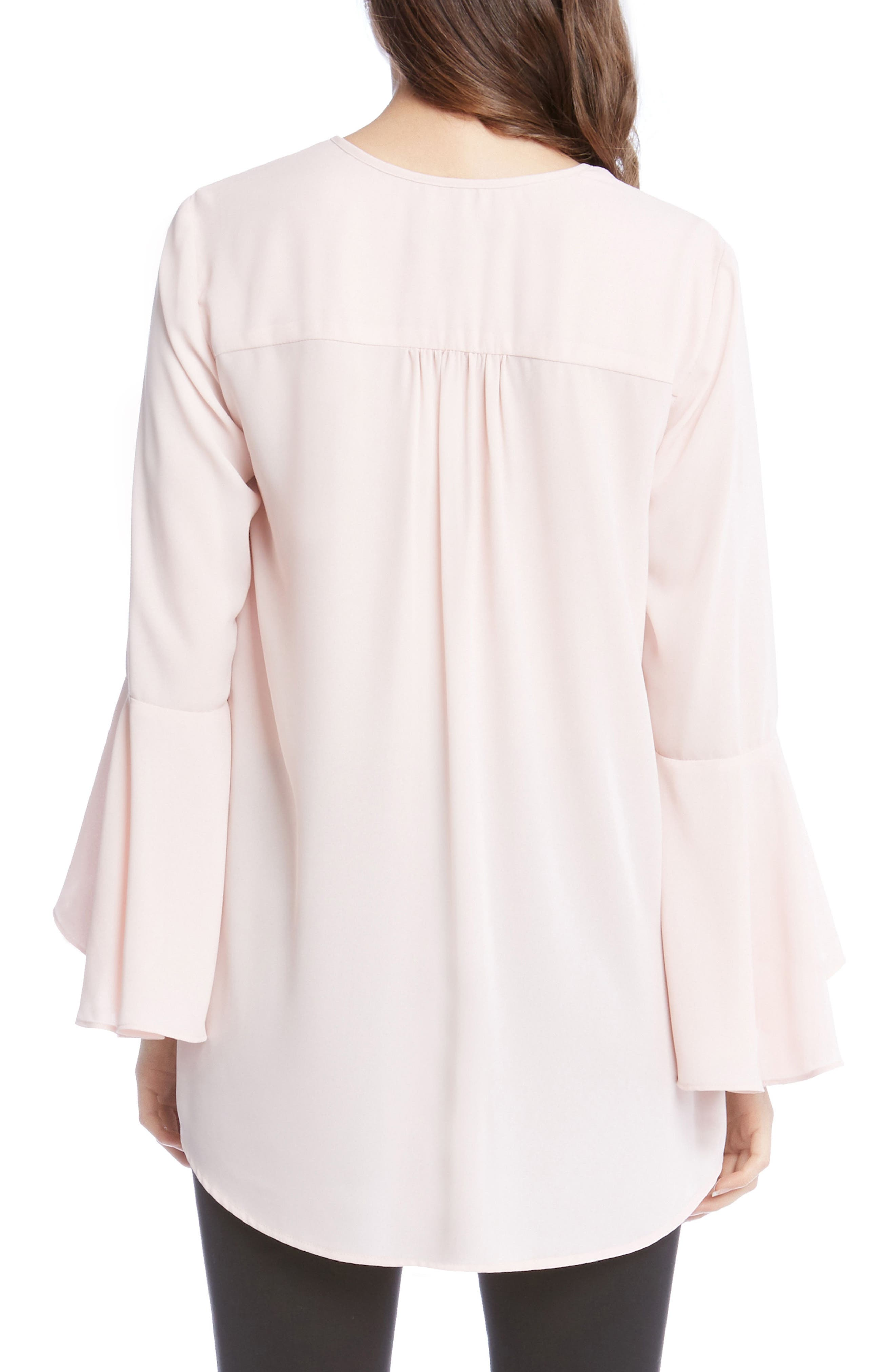 Slit Sleeve High/Low Top,                             Alternate thumbnail 6, color,