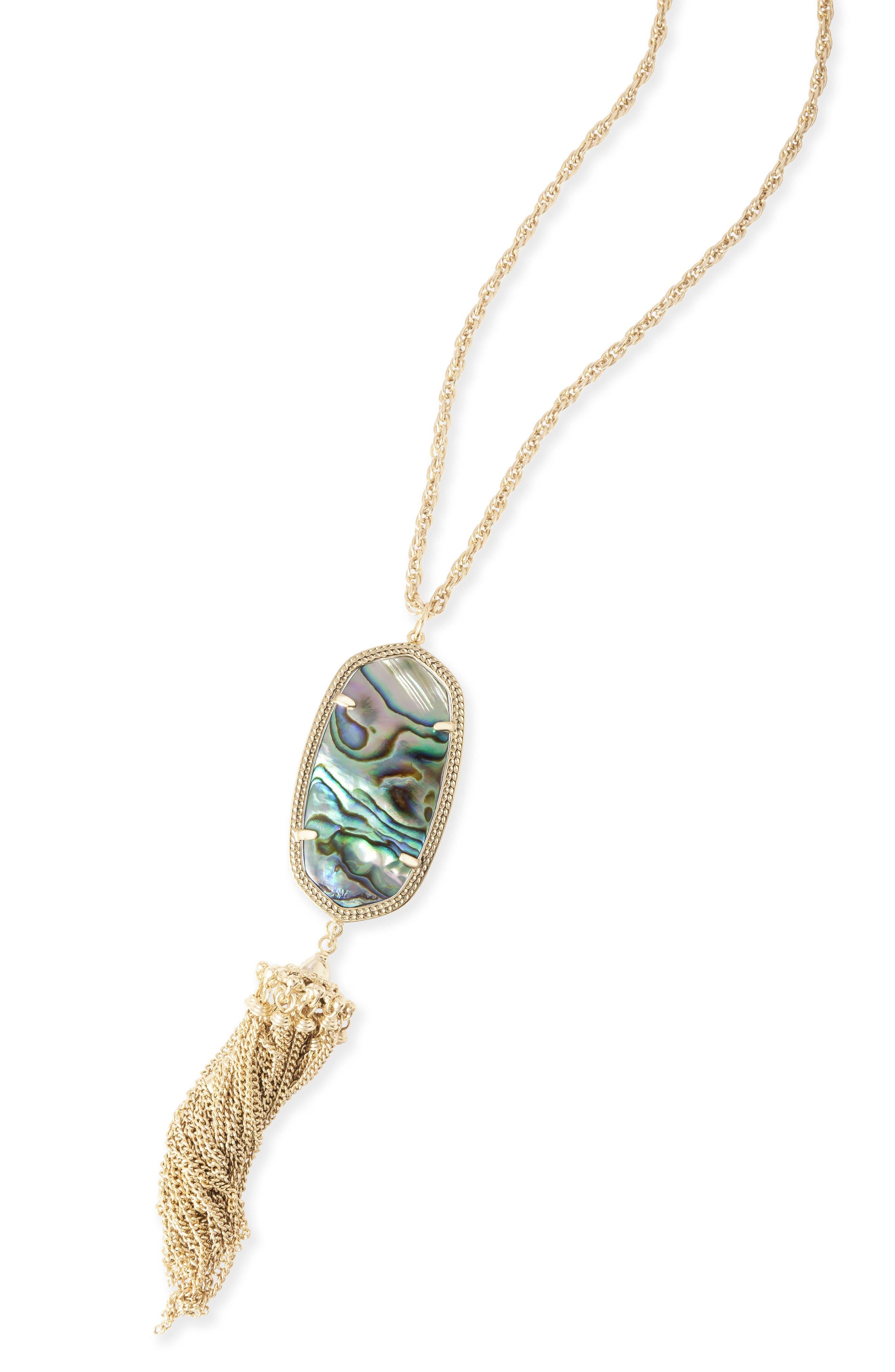 Rayne Stone Tassel Pendant Necklace,                             Alternate thumbnail 318, color,
