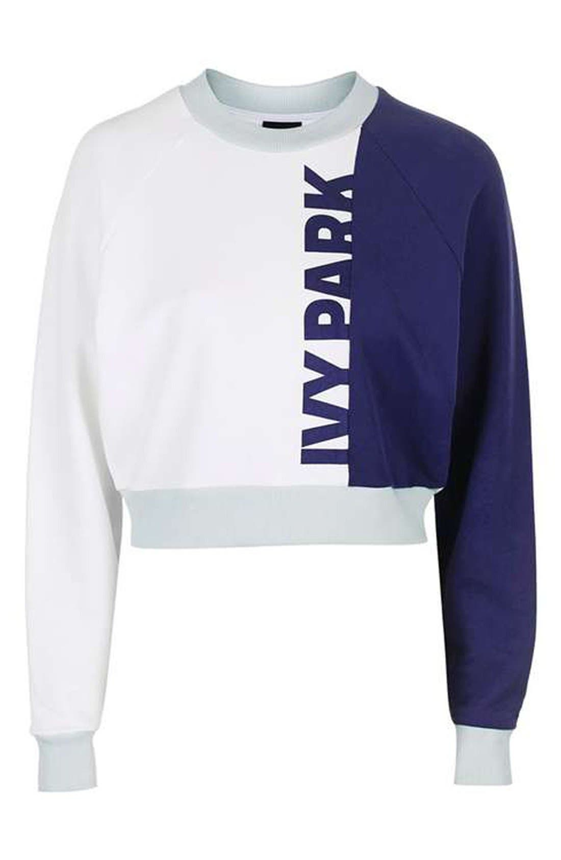 IVY PARK<SUP>®</SUP>,                             Colorblock Peached Logo Sweatshirt,                             Alternate thumbnail 2, color,                             410