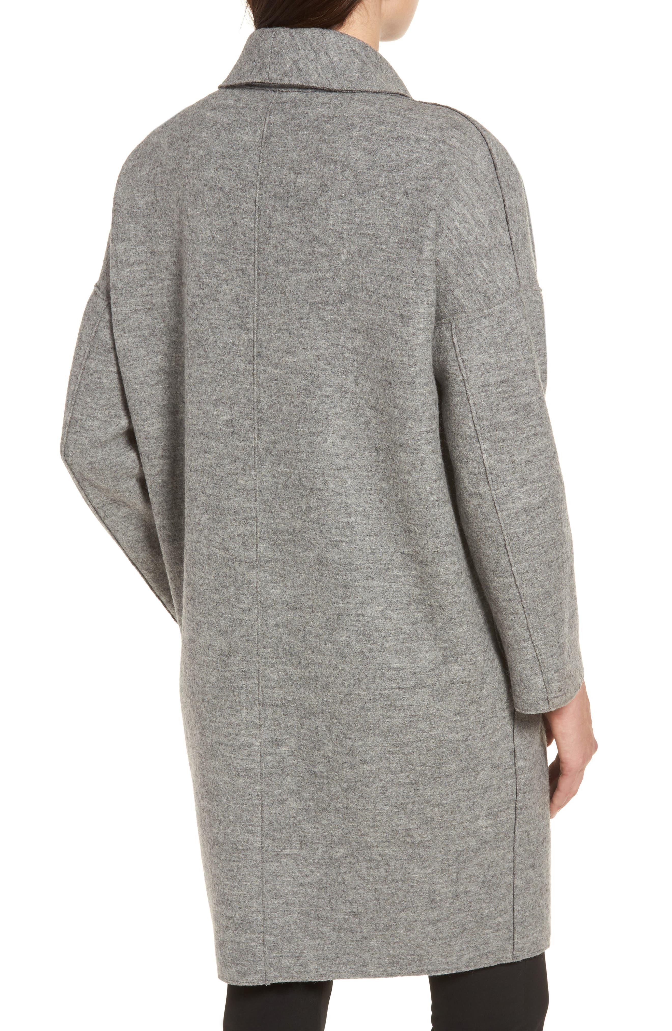 Emma Boiled Wool Coat,                             Alternate thumbnail 2, color,                             020
