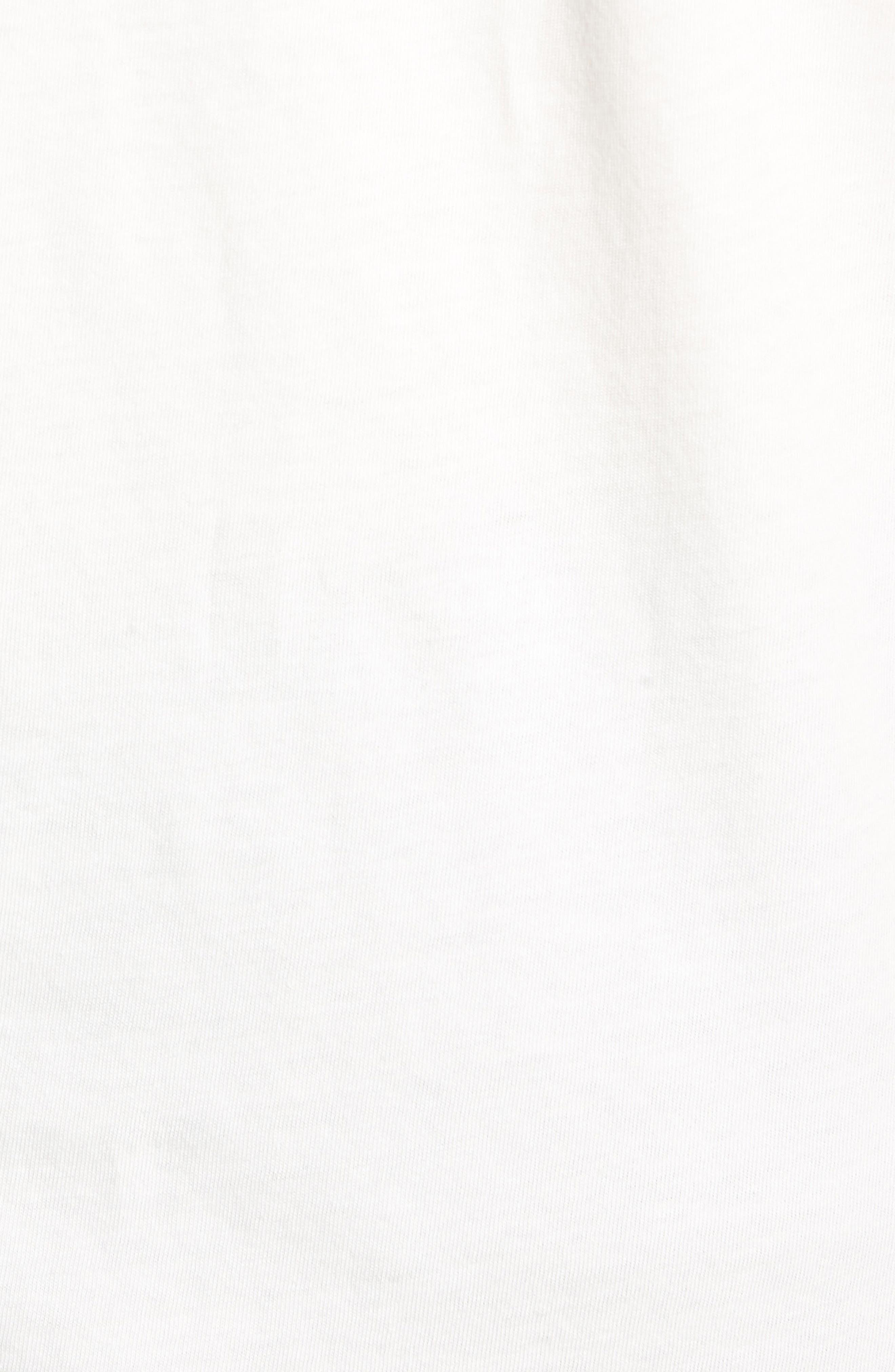 Off White Graphic T-Shirt,                             Alternate thumbnail 5, color,                             WHITE