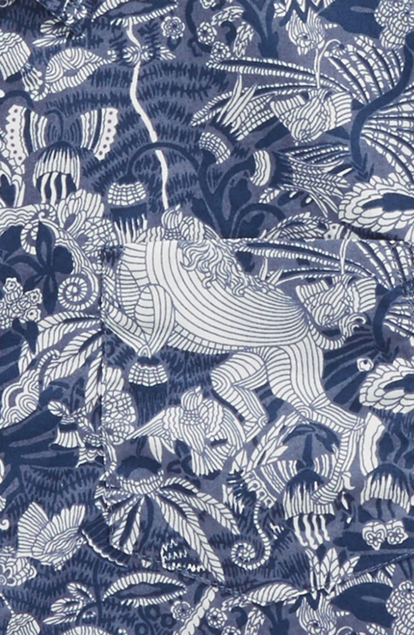 Jungle Unicorn Print Woven Shirt,                             Alternate thumbnail 2, color,