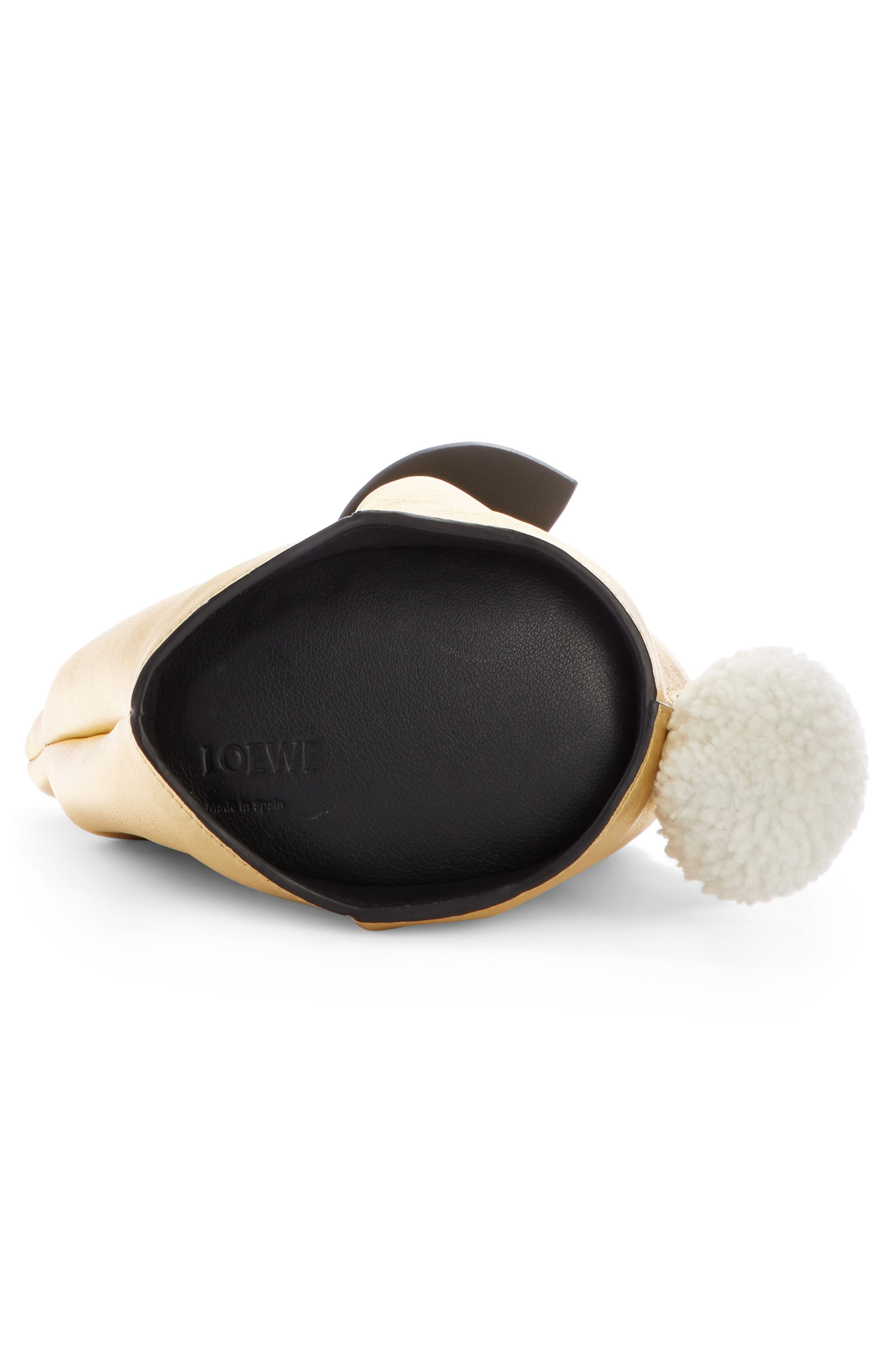 Mini Bunny Metallic Leather Crossbody Bag with Genuine Shearling Trim,                             Alternate thumbnail 4, color,                             710