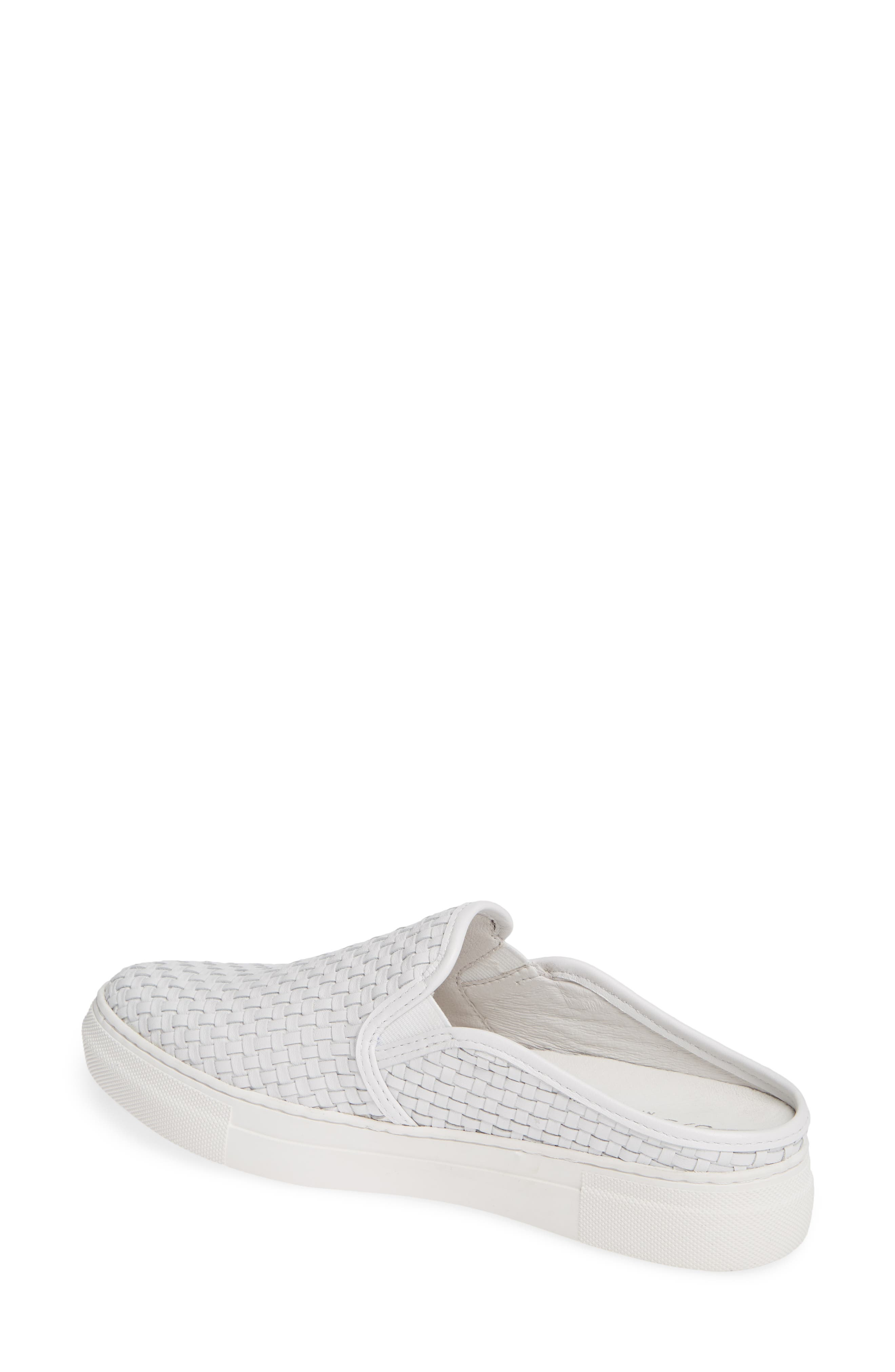 Fiona Woven Mule,                             Alternate thumbnail 2, color,                             WHITE LEATHER