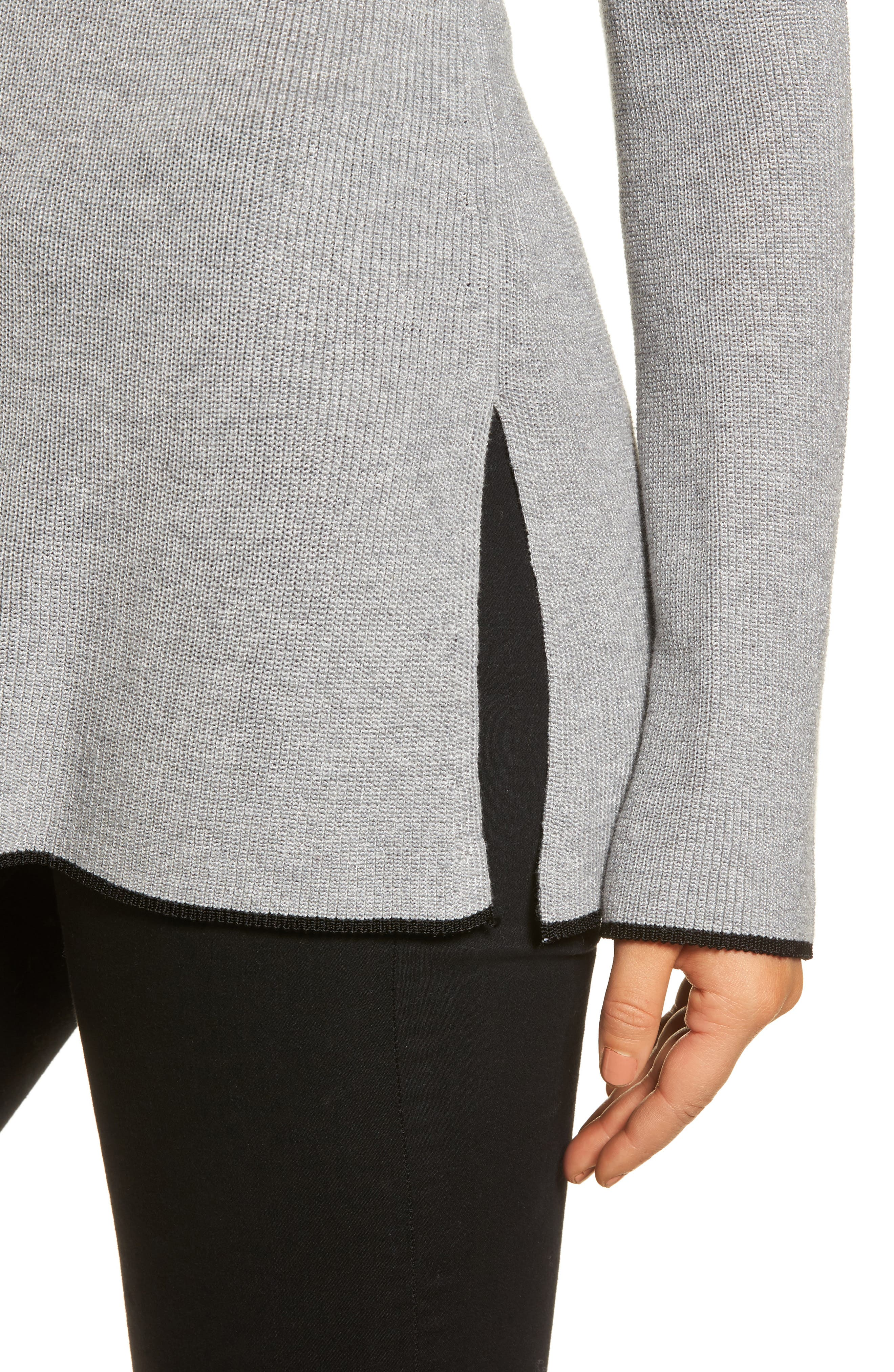 Tipped Bell Sleeve Sweater,                             Alternate thumbnail 23, color,