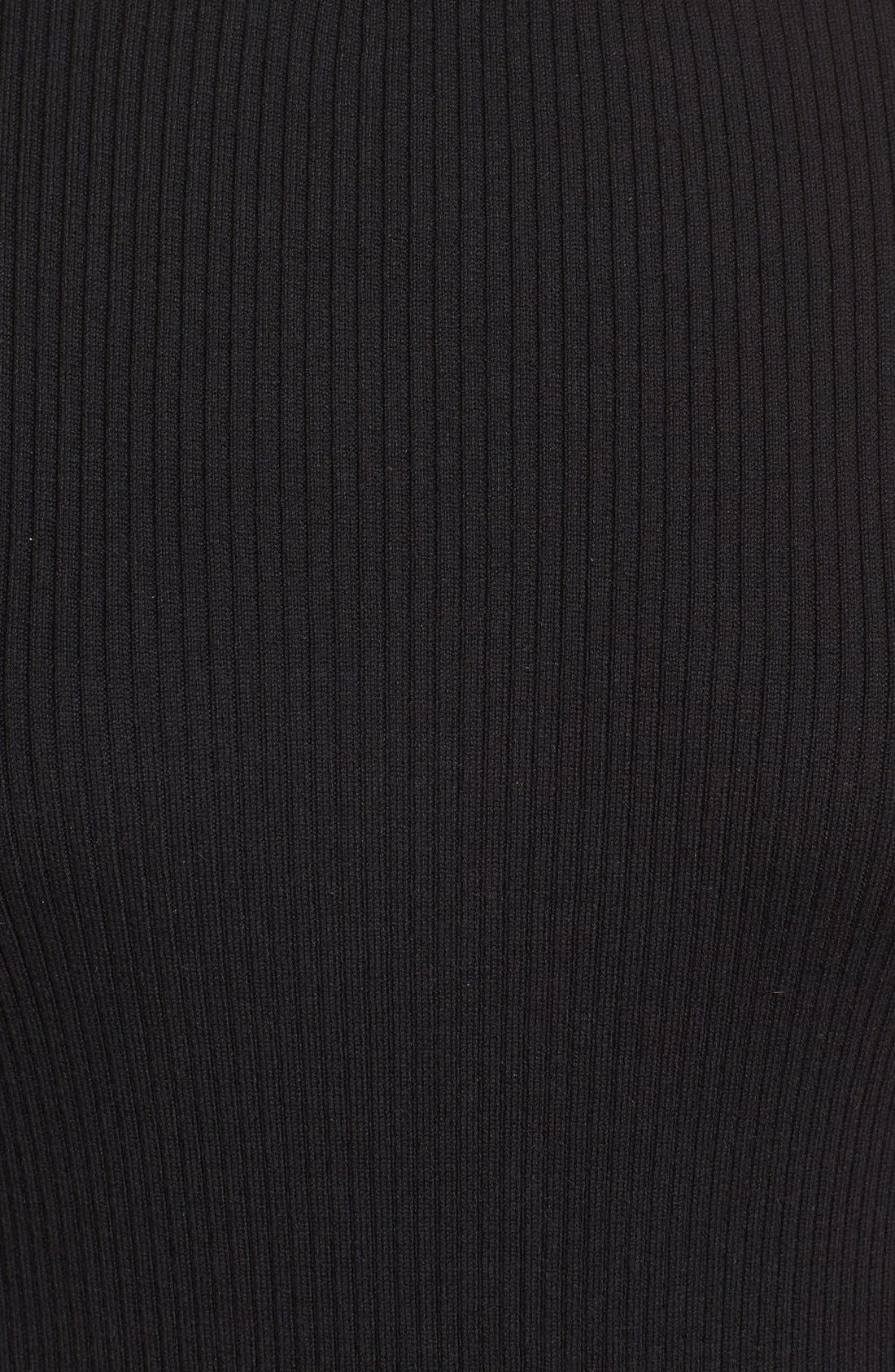 Ribbed Cotton Turtleneck Sweater,                             Alternate thumbnail 5, color,                             006