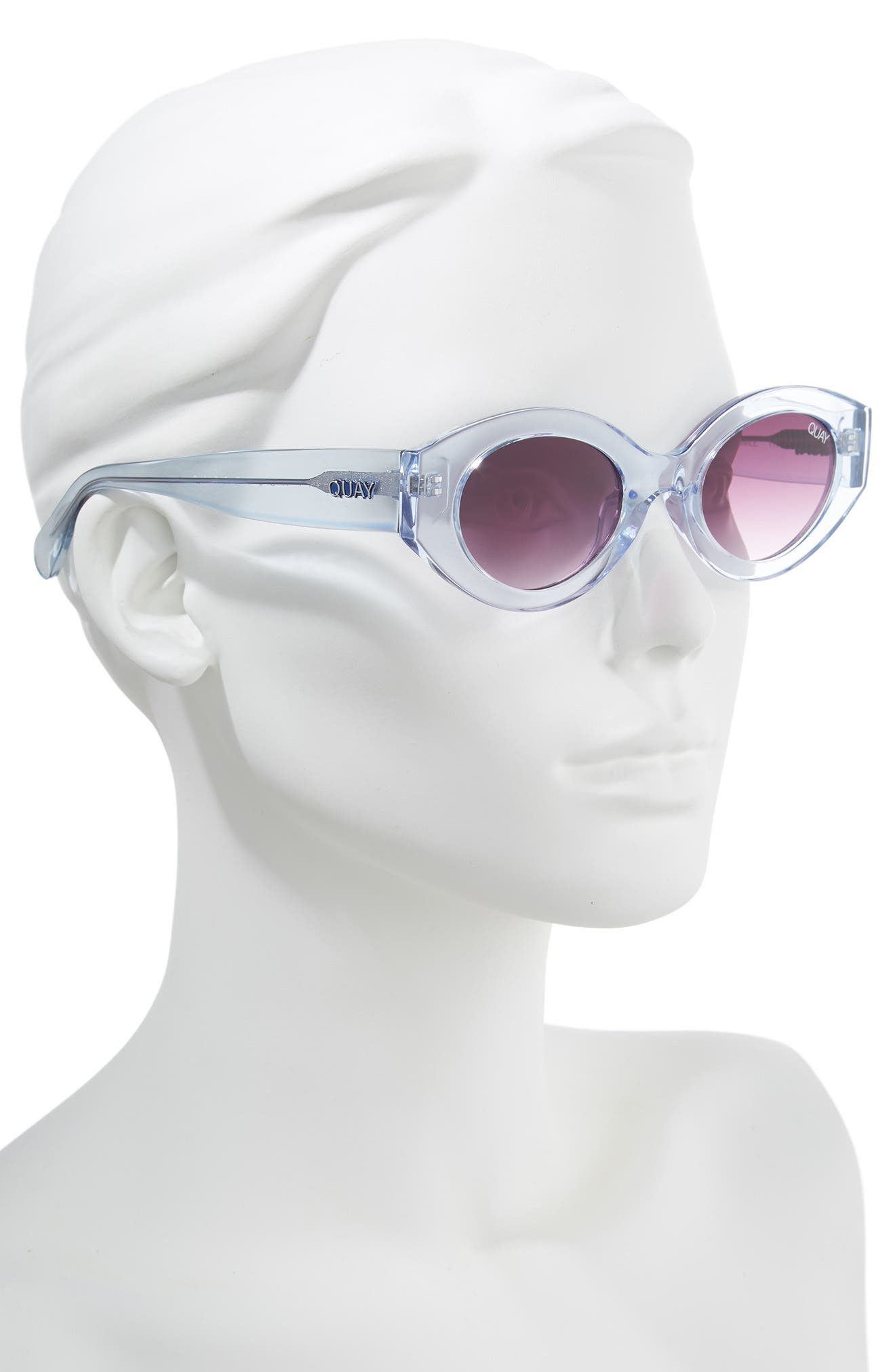 See Me Smile 50mm Cat Eye Sunglasses,                             Alternate thumbnail 2, color,                             BLUE/ PURPLE