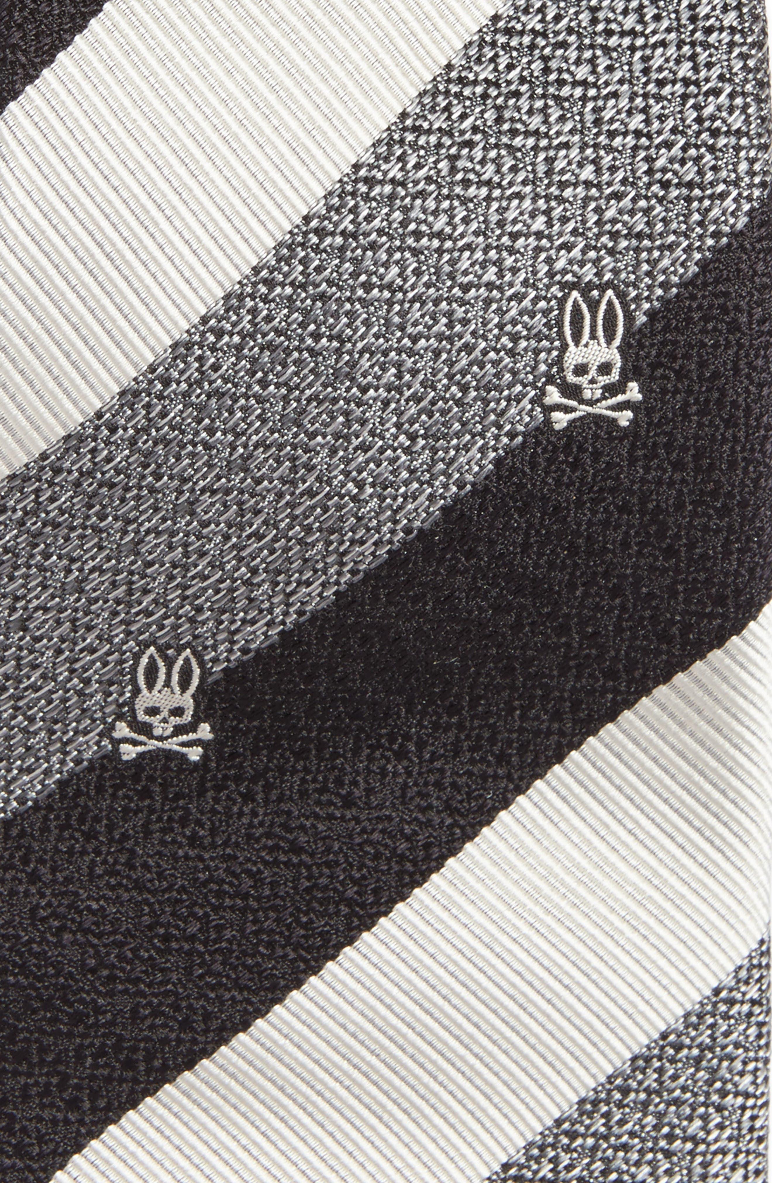 Wide Stripe Silk Tie,                             Alternate thumbnail 2, color,                             020